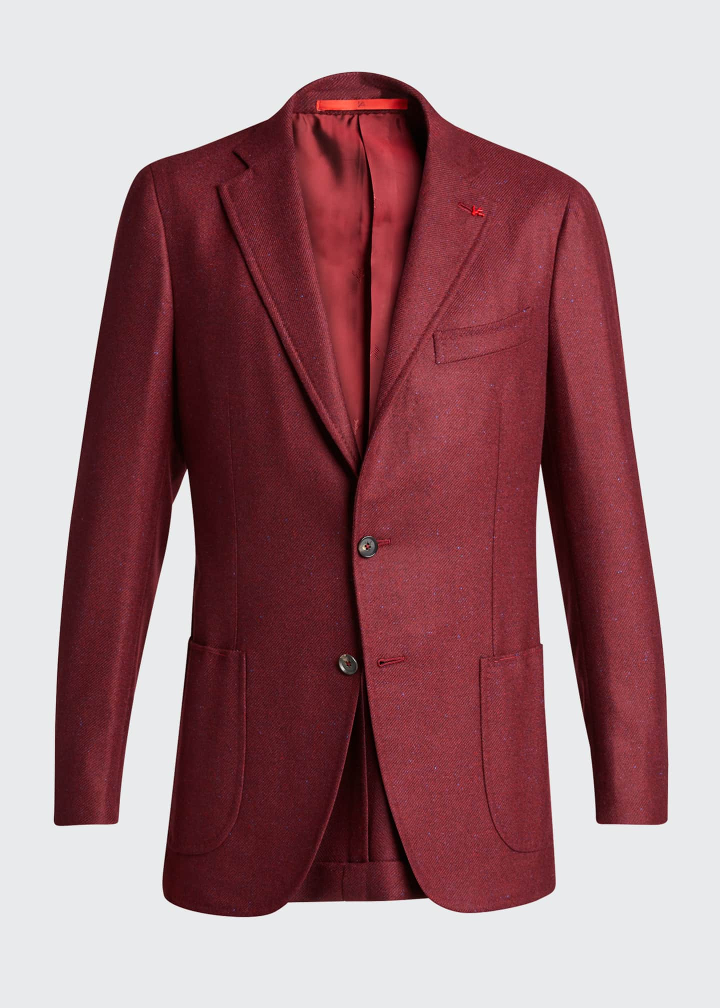Image 5 of 5: Men's Cashmere-Silk Donegal Blazer