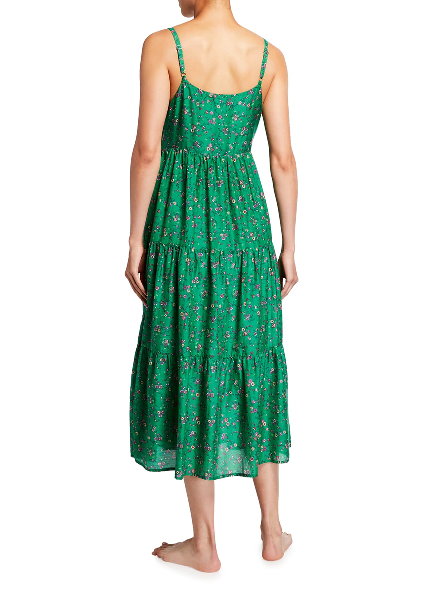 Image 2 of 2: Sophie Floral Print Tiered Lounge Dress
