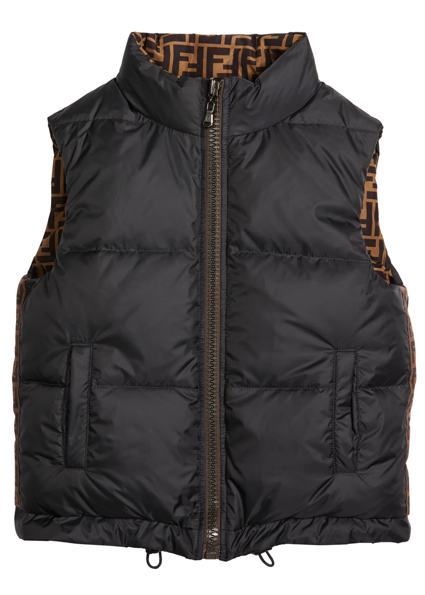 Image 2 of 2: Boy's Reversible Puffer Logo Vest, Size 8-14