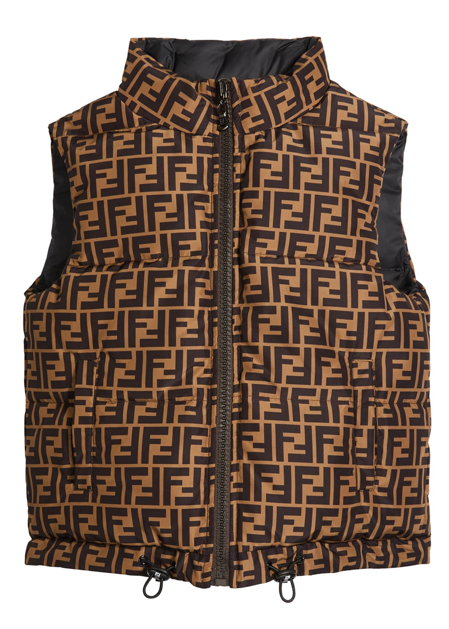 Image 1 of 2: Boy's Reversible Puffer Logo Vest, Size 8-14