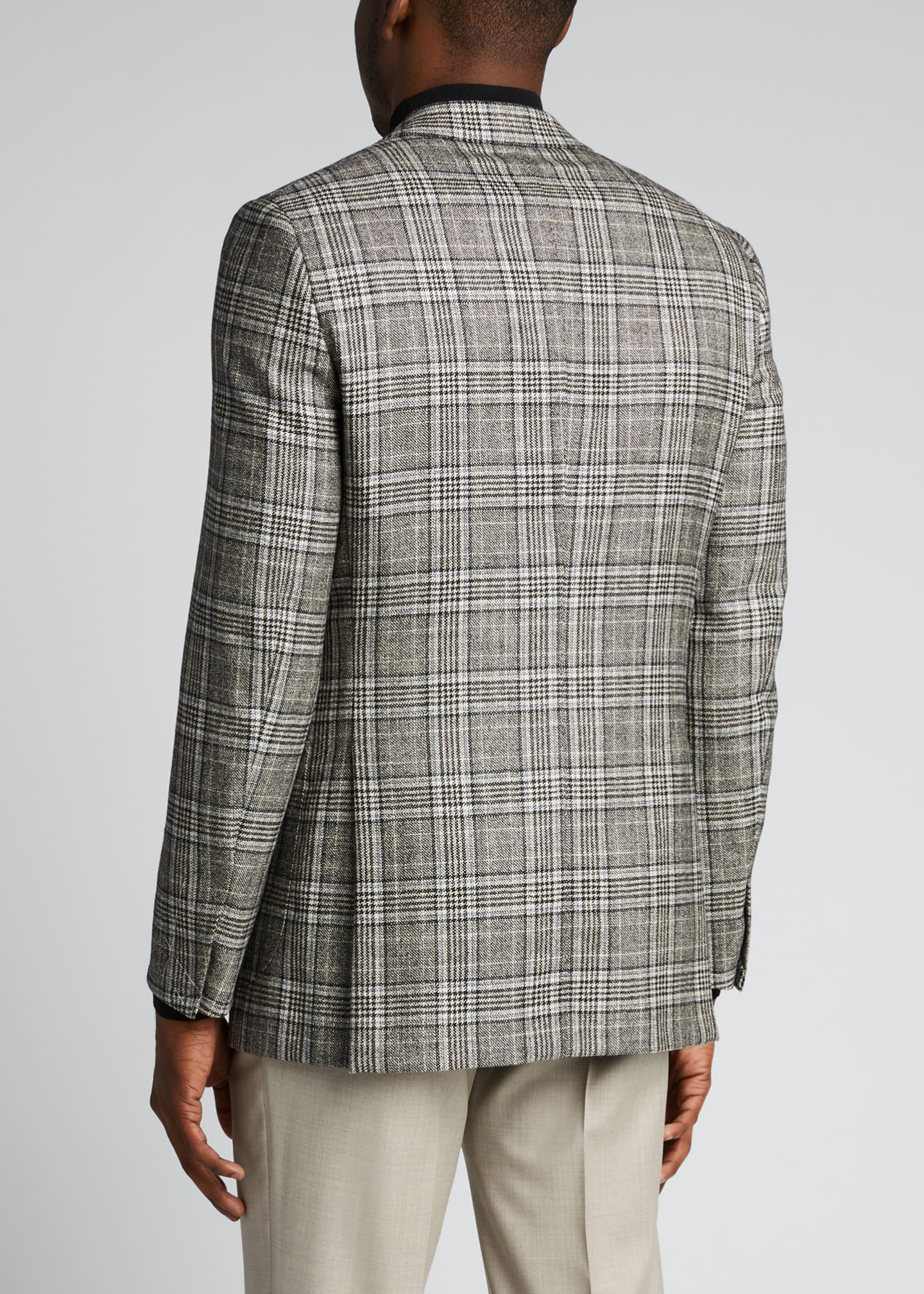 Image 2 of 5: Men's Plaid Sport Jacket
