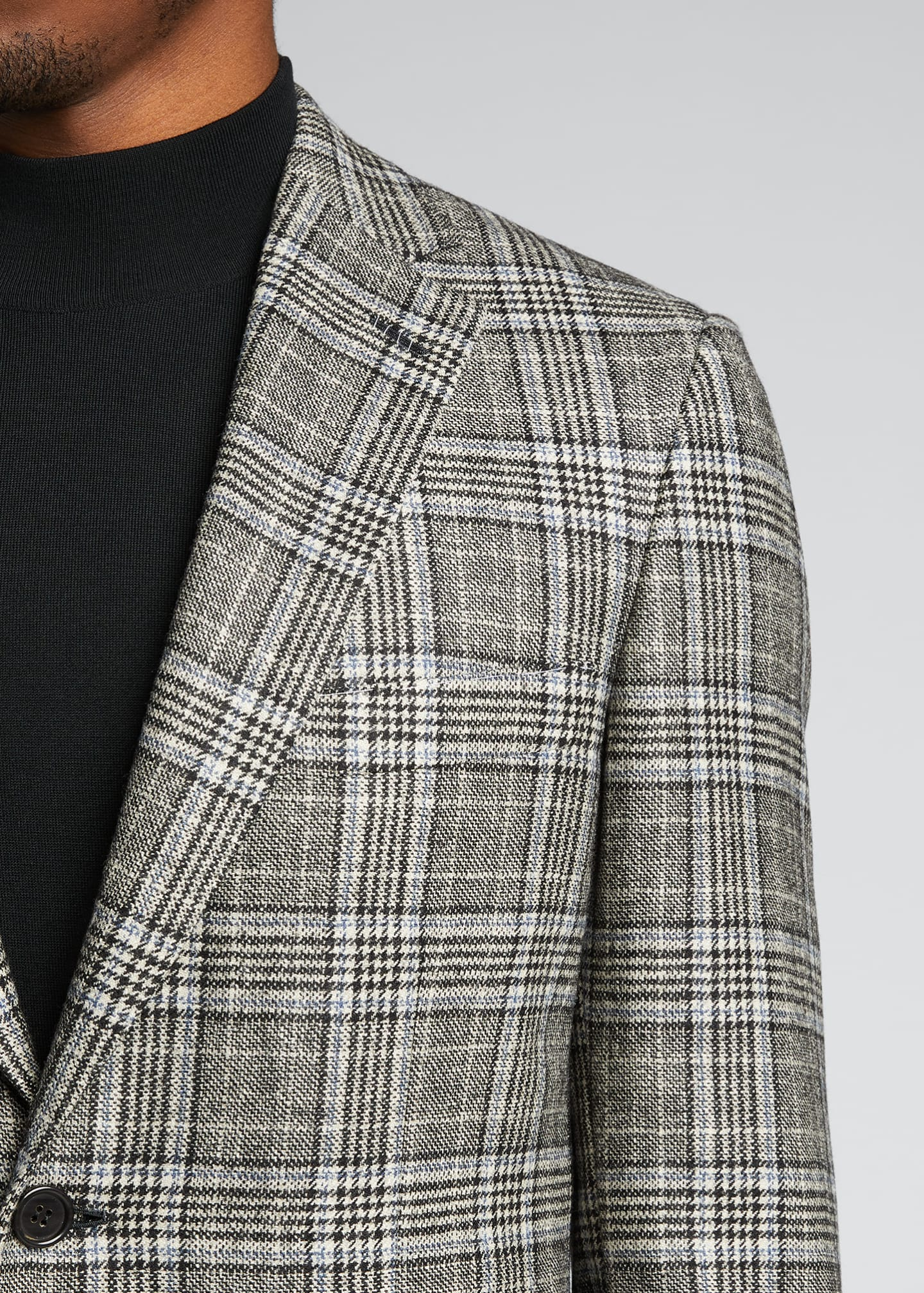 Image 4 of 5: Men's Plaid Sport Jacket