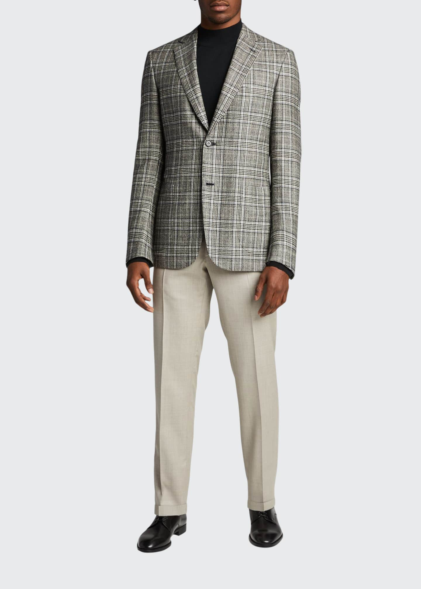 Image 1 of 5: Men's Plaid Sport Jacket