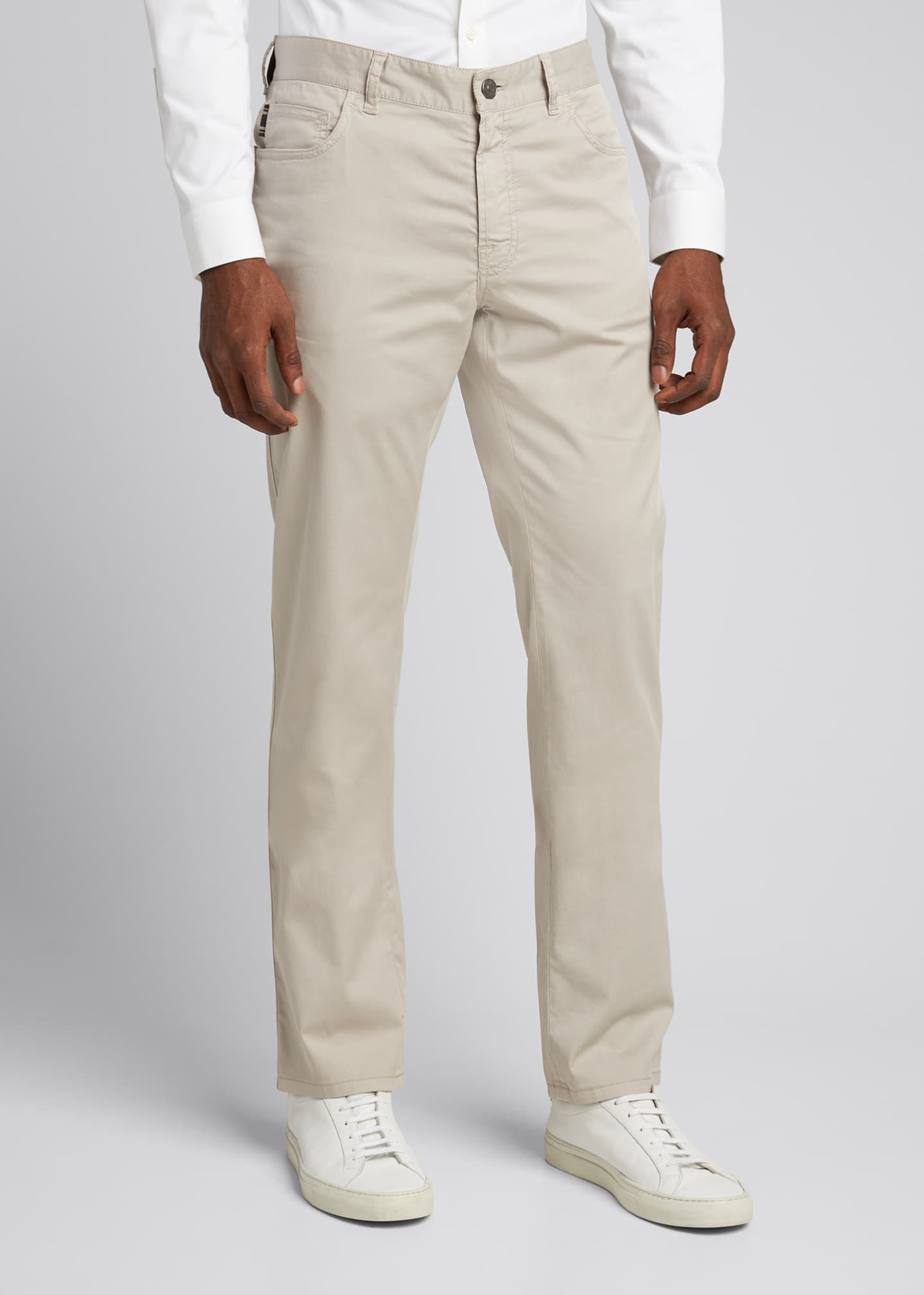 Image 3 of 5: Men's Twill 5-Pocket Pants