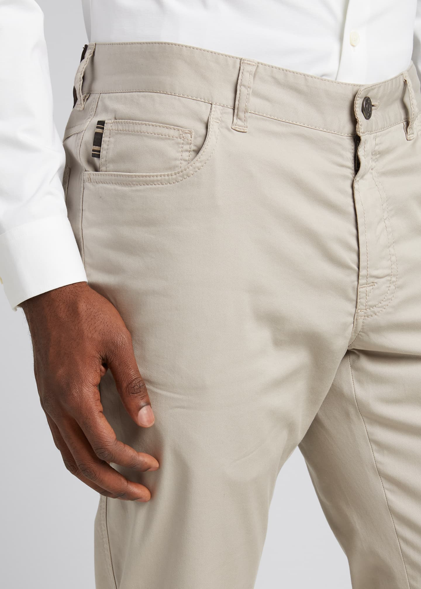 Image 4 of 5: Men's Twill 5-Pocket Pants