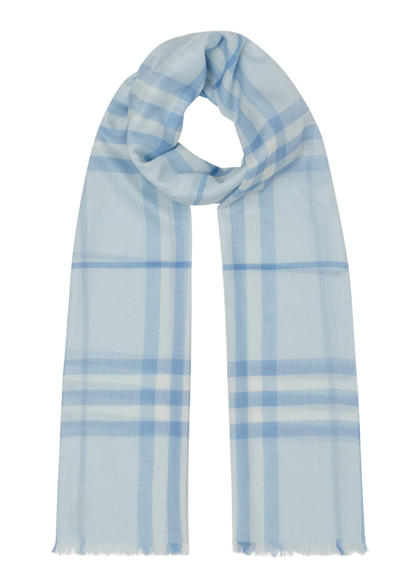 Image 1 of 4: Giant Check Gauze Scarf