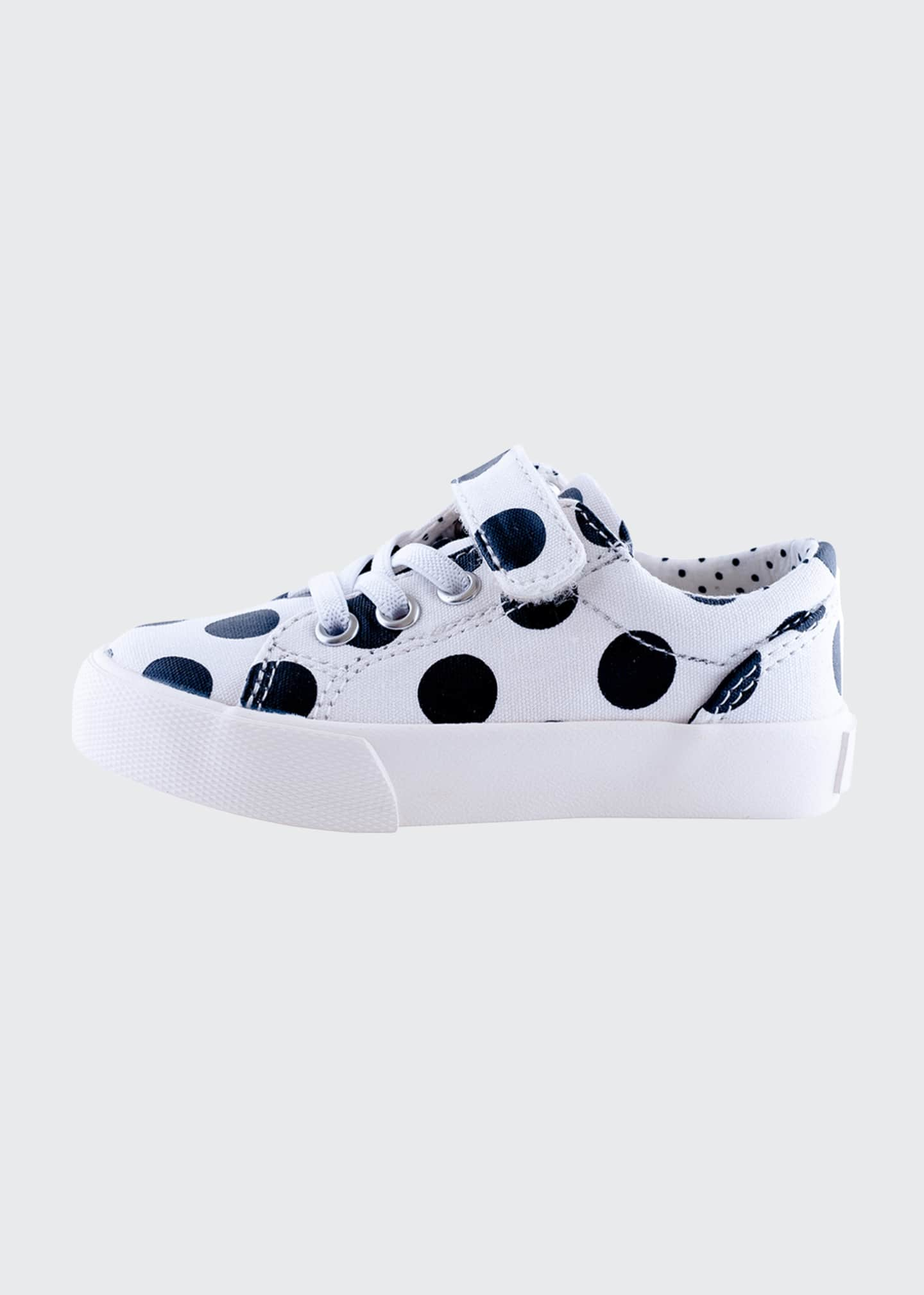 Image 2 of 3: Grace Laminated Polka-Dotted Grip Strap Sneakers, Baby/Toddler/Kids