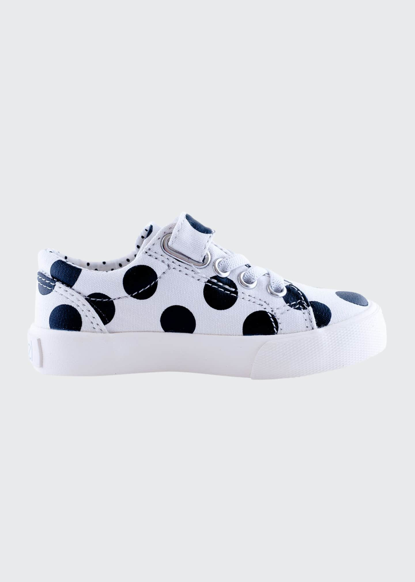 Image 1 of 3: Grace Laminated Polka-Dotted Grip Strap Sneakers, Baby/Toddler/Kids