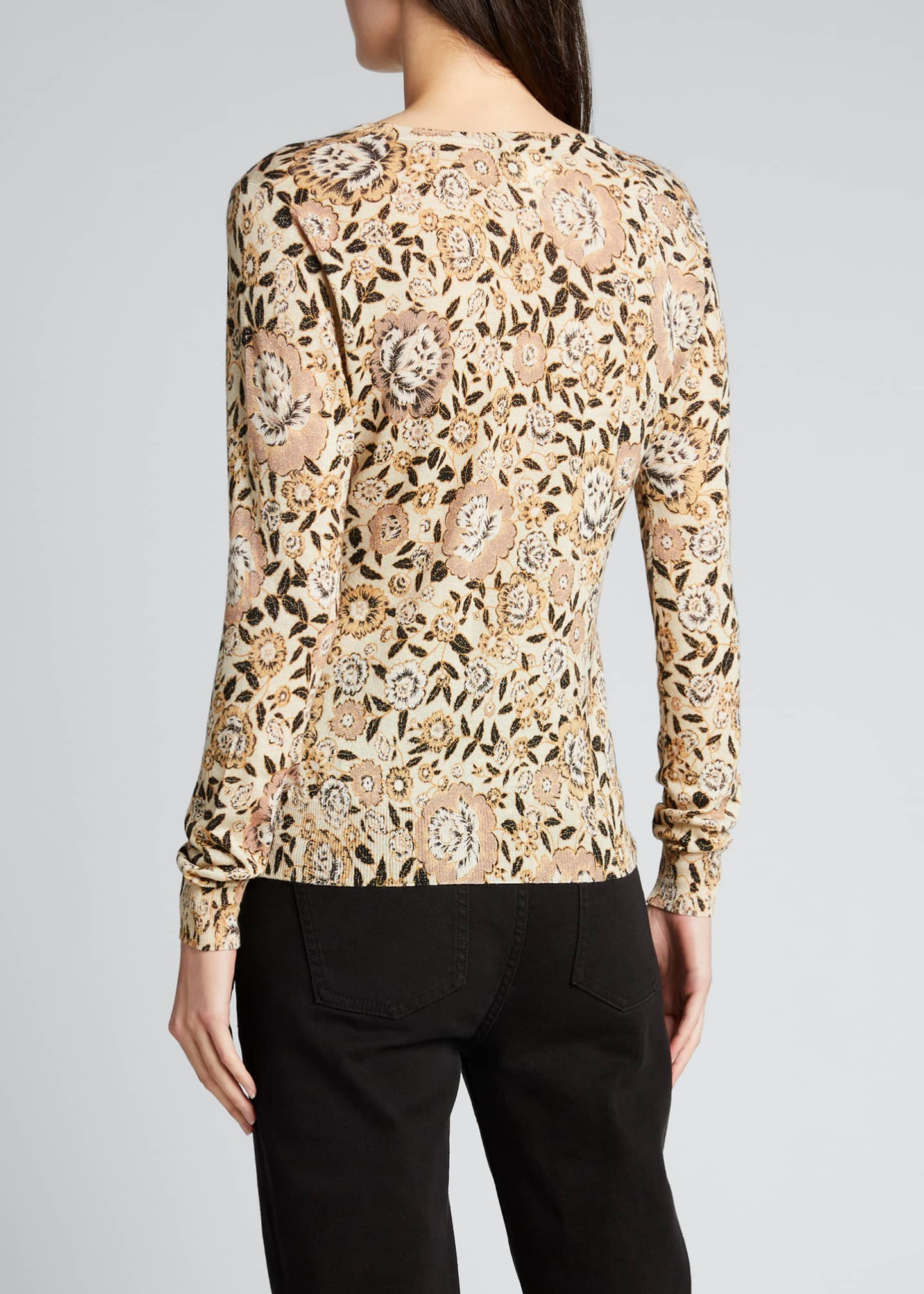 Image 2 of 5: Floral Wool Knit Sweater