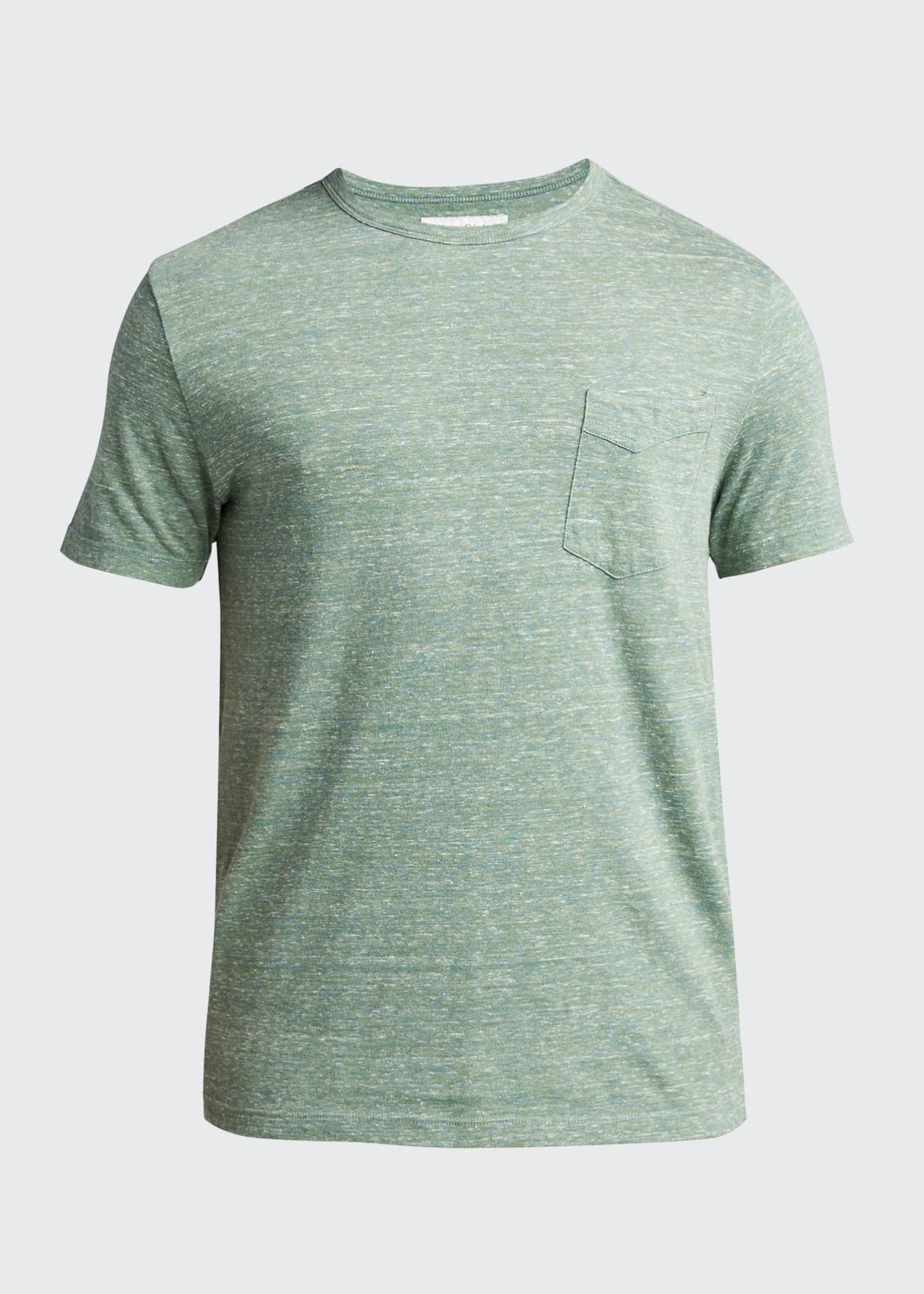 Image 5 of 5: Men's Light Green Cotton Jersey Slub T-Shirt