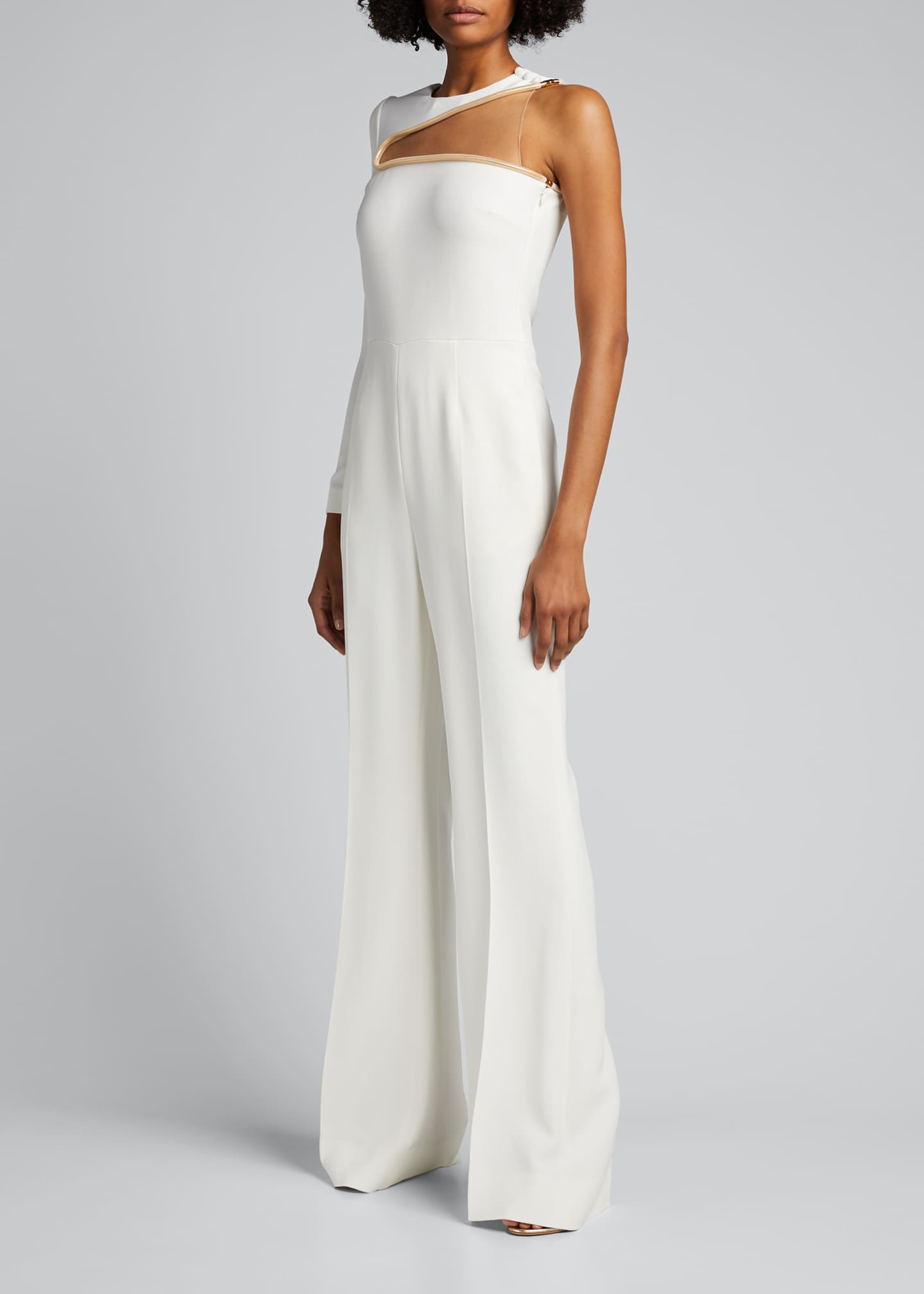 Image 1 of 5: Lyta One-Shoulder Illusion Jumpsuit