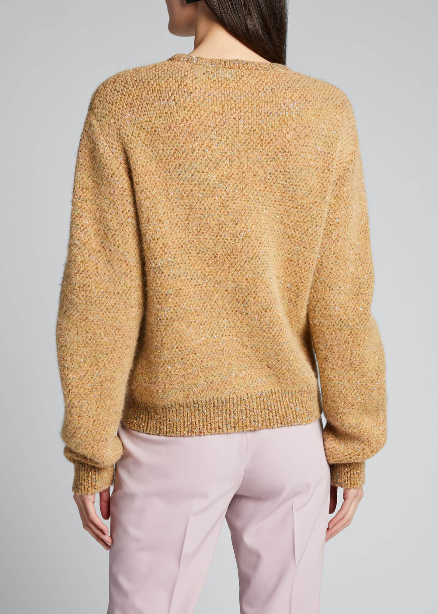 Image 2 of 5: Sequins Crewneck Knit Sweater