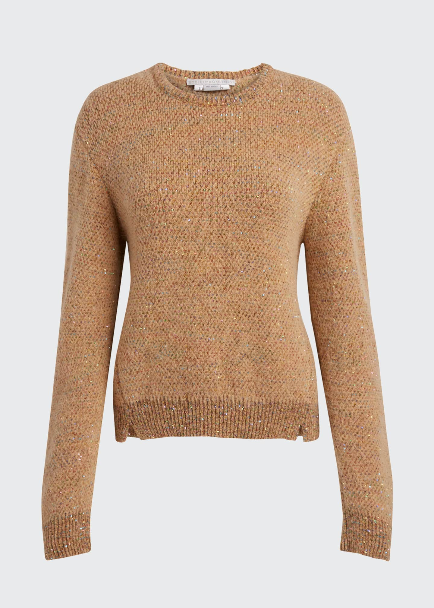 Image 5 of 5: Sequins Crewneck Knit Sweater