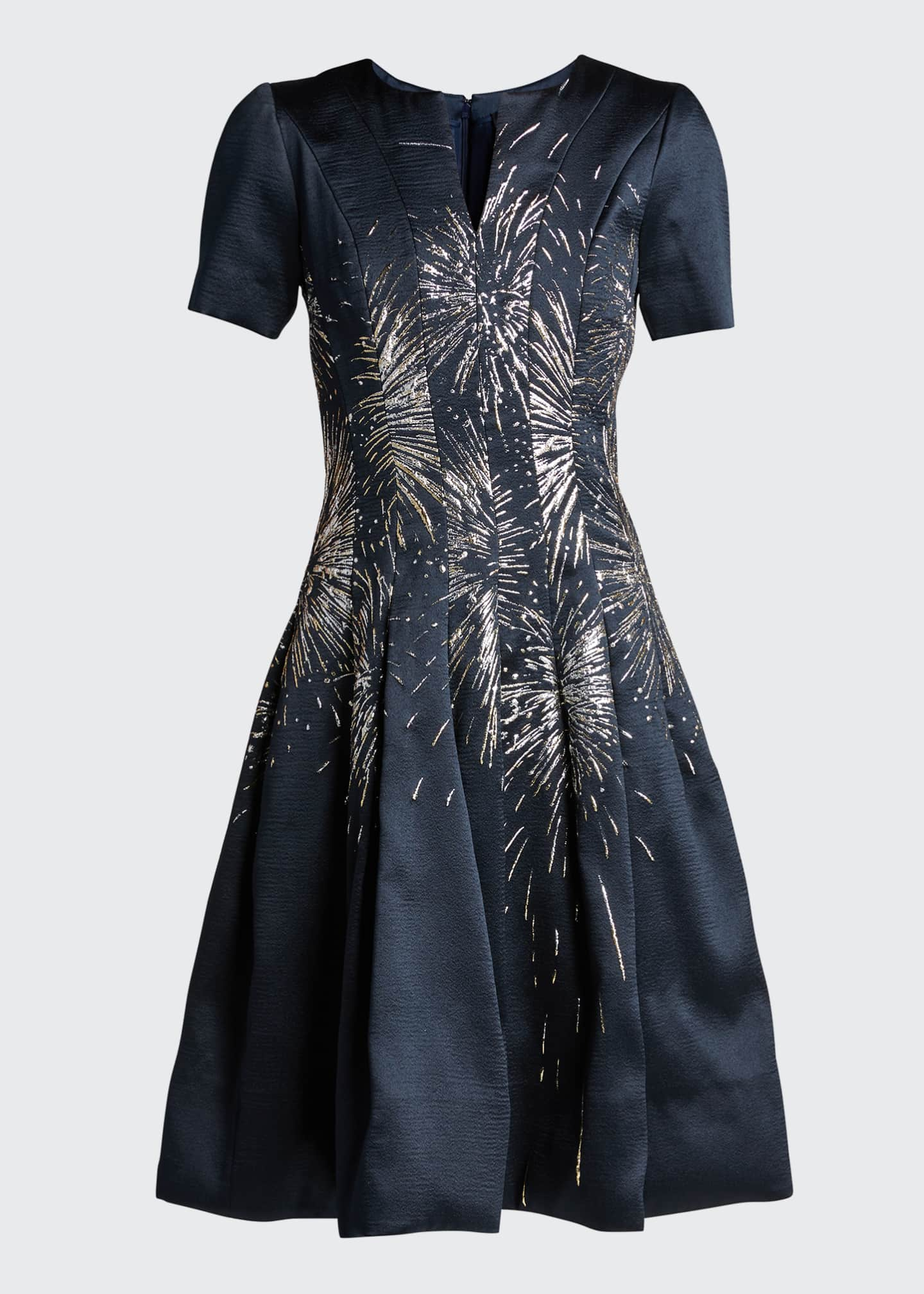 Image 5 of 5: Embroidered Firework A-Line Dress