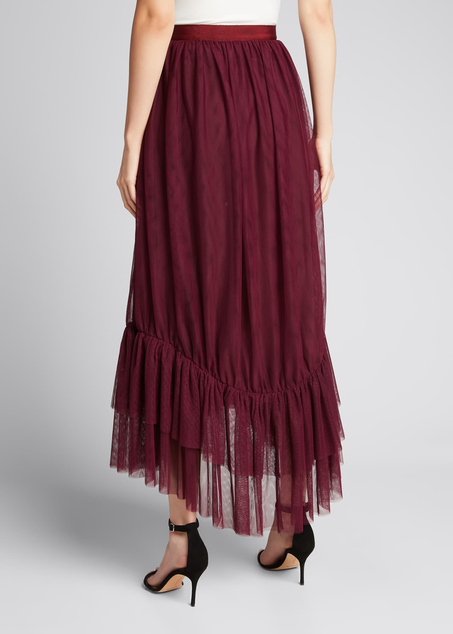 Image 2 of 5: Cheryl Tiered-Hem Skirt