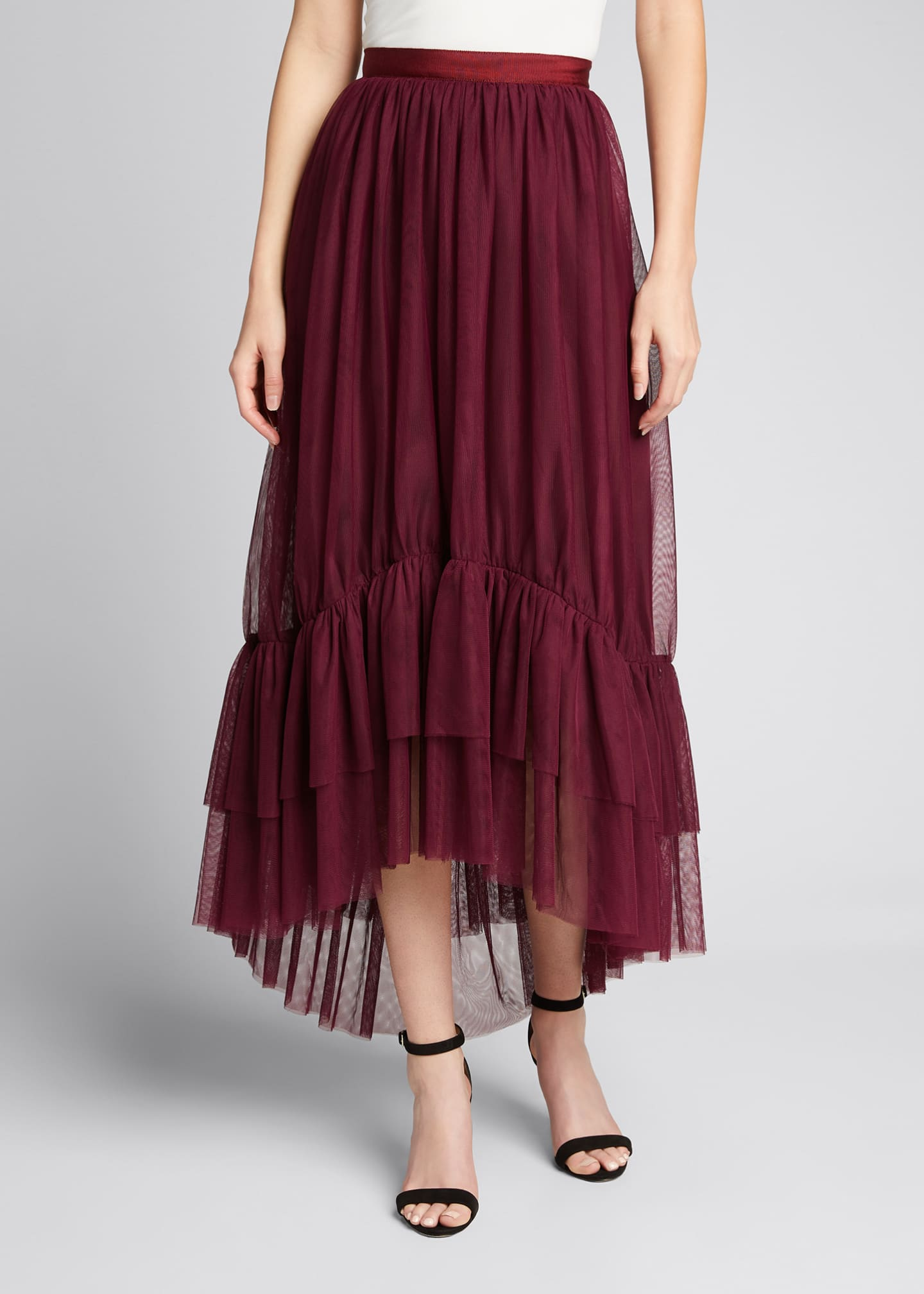 Image 3 of 5: Cheryl Tiered-Hem Skirt
