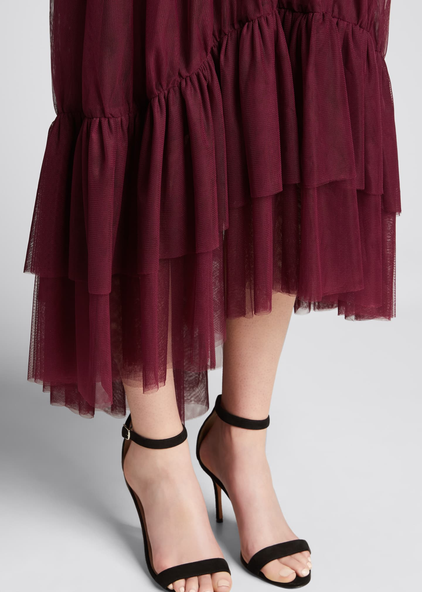 Image 4 of 5: Cheryl Tiered-Hem Skirt