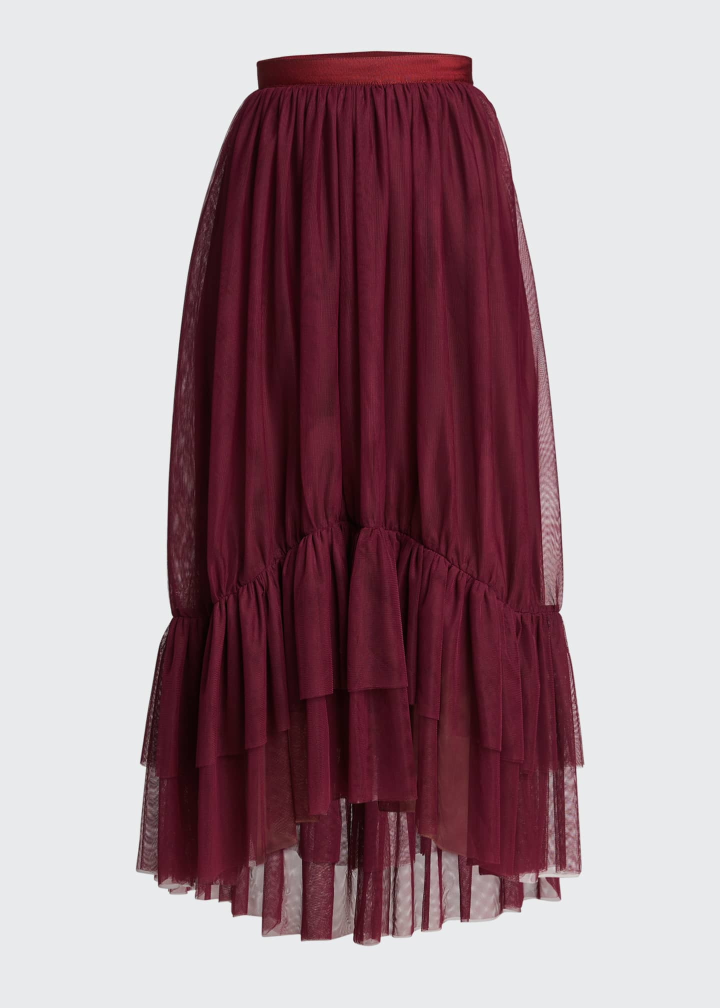 Image 5 of 5: Cheryl Tiered-Hem Skirt