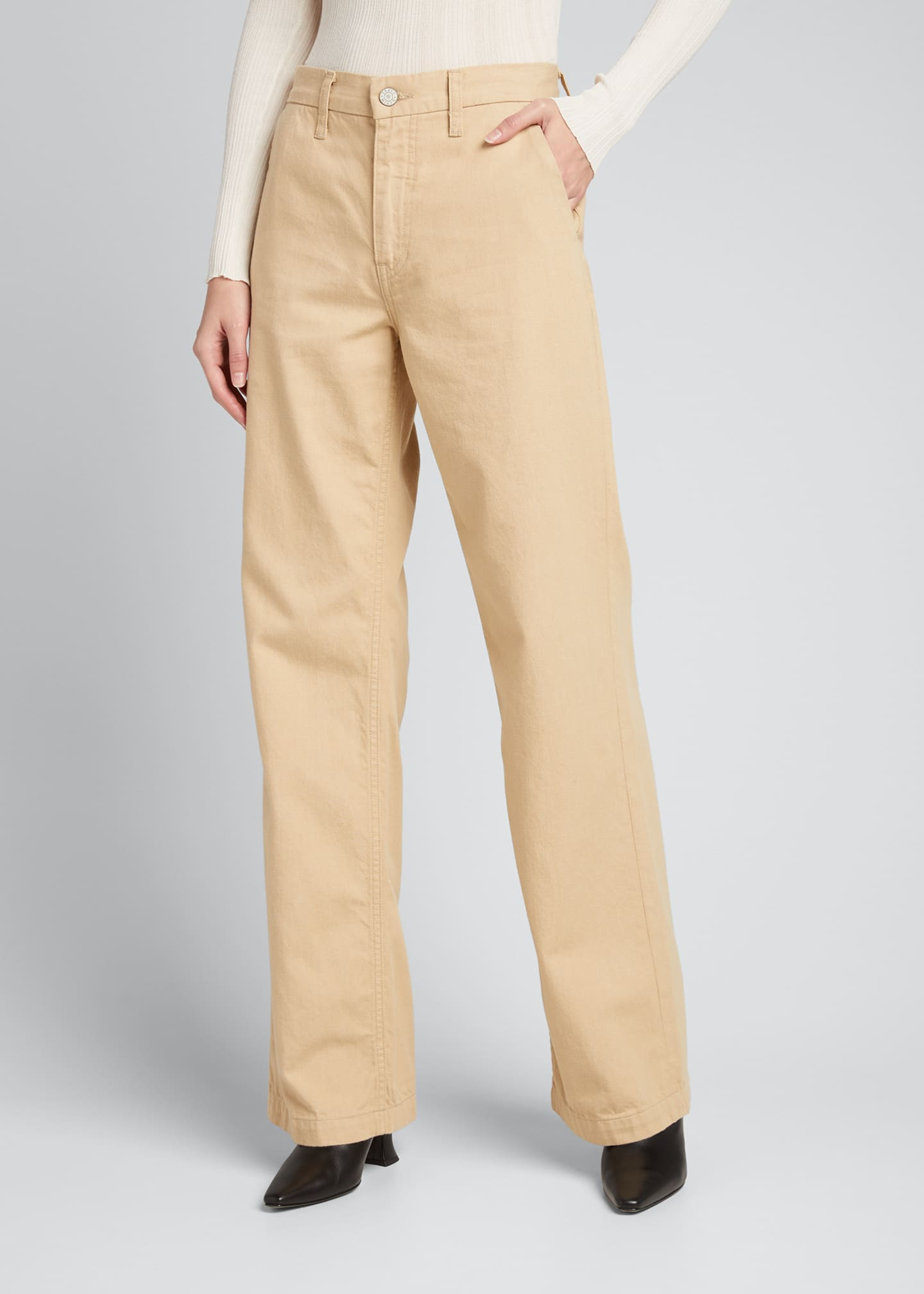 Image 3 of 4: Joan Wide-Leg Trousers