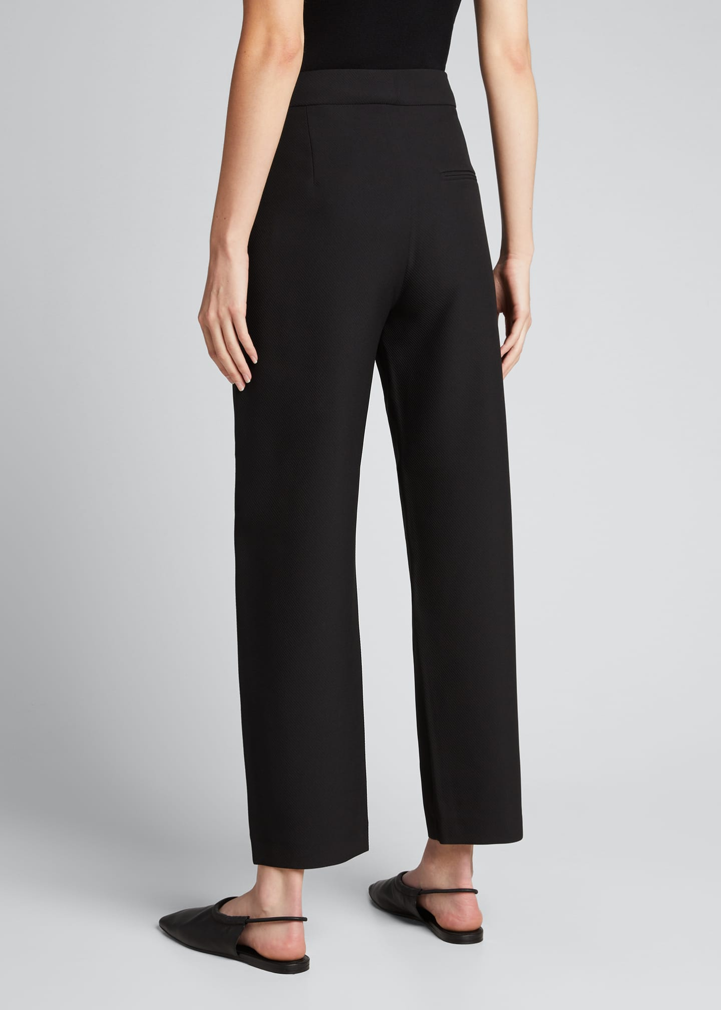 Image 2 of 5: Novara Twist-Seam Cropped Trousers