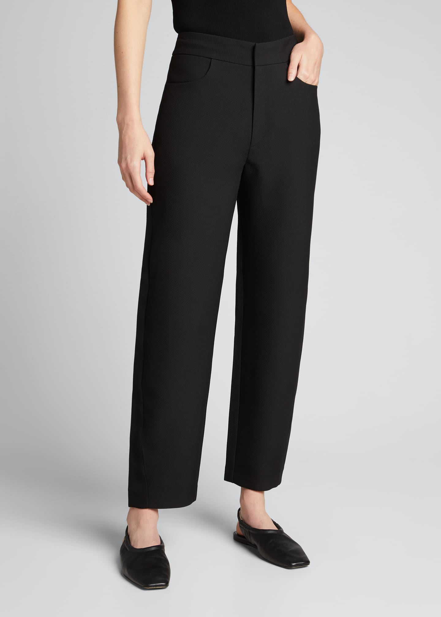 Image 3 of 5: Novara Twist-Seam Cropped Trousers
