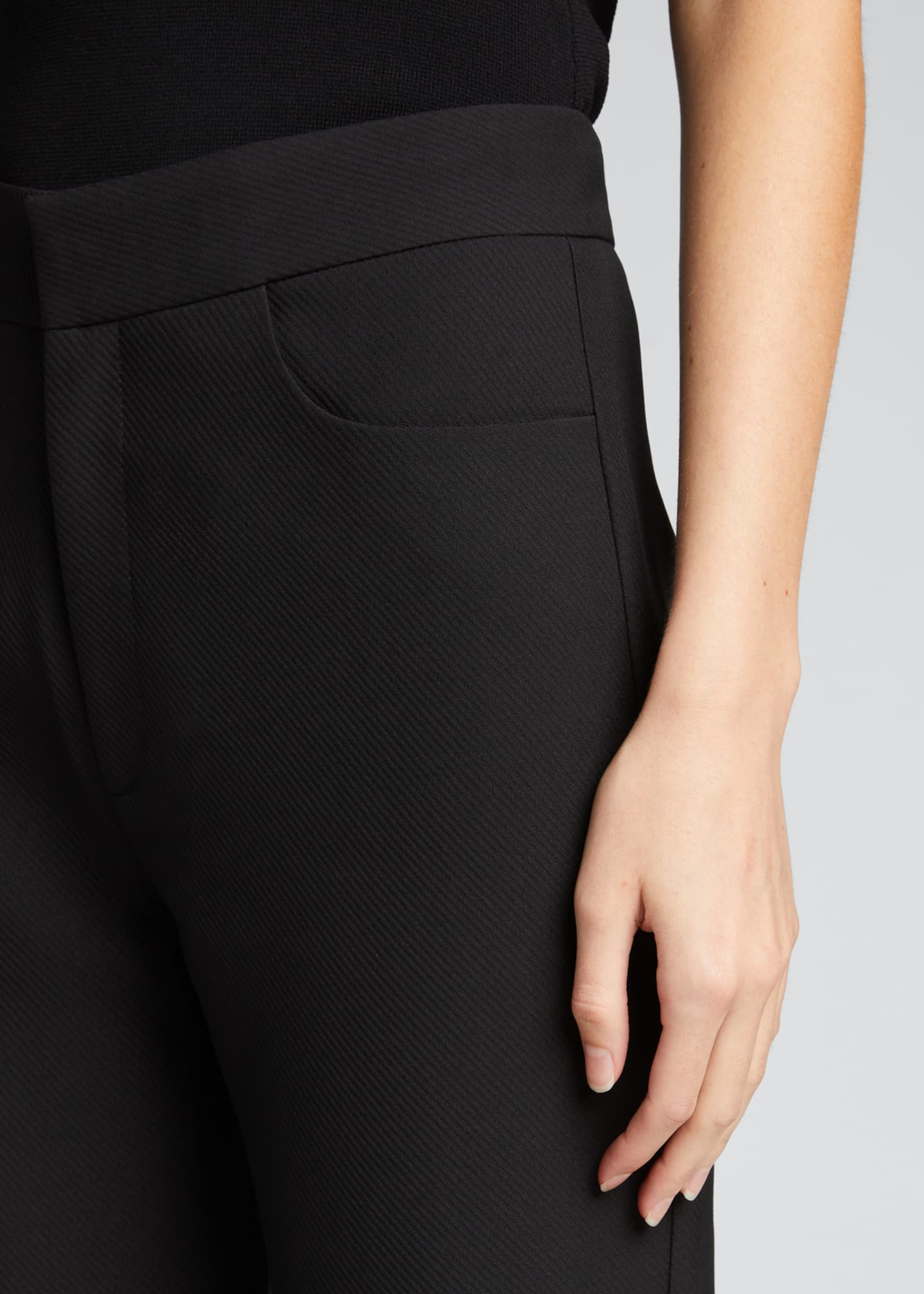 Image 4 of 5: Novara Twist-Seam Cropped Trousers