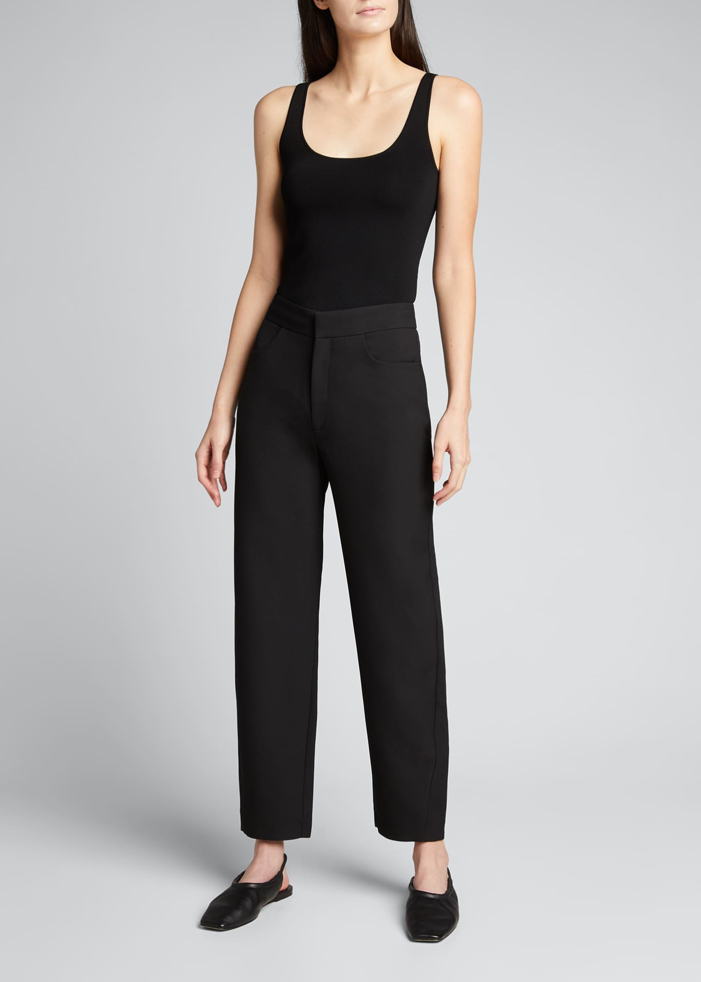Image 1 of 5: Novara Twist-Seam Cropped Trousers