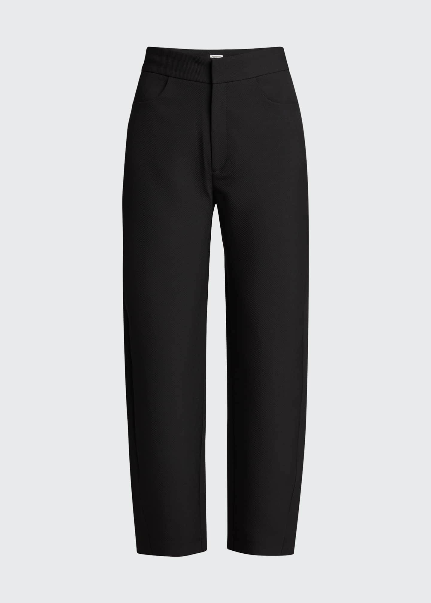 Image 5 of 5: Novara Twist-Seam Cropped Trousers