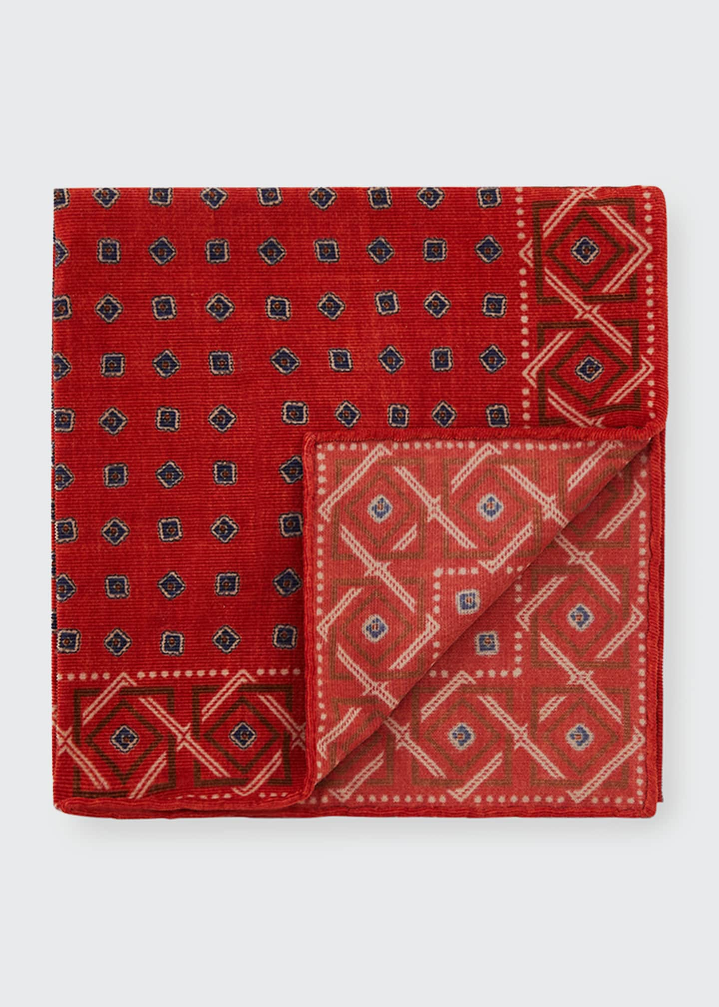 Image 1 of 1: Men's Geometric Cotton Pocket Square
