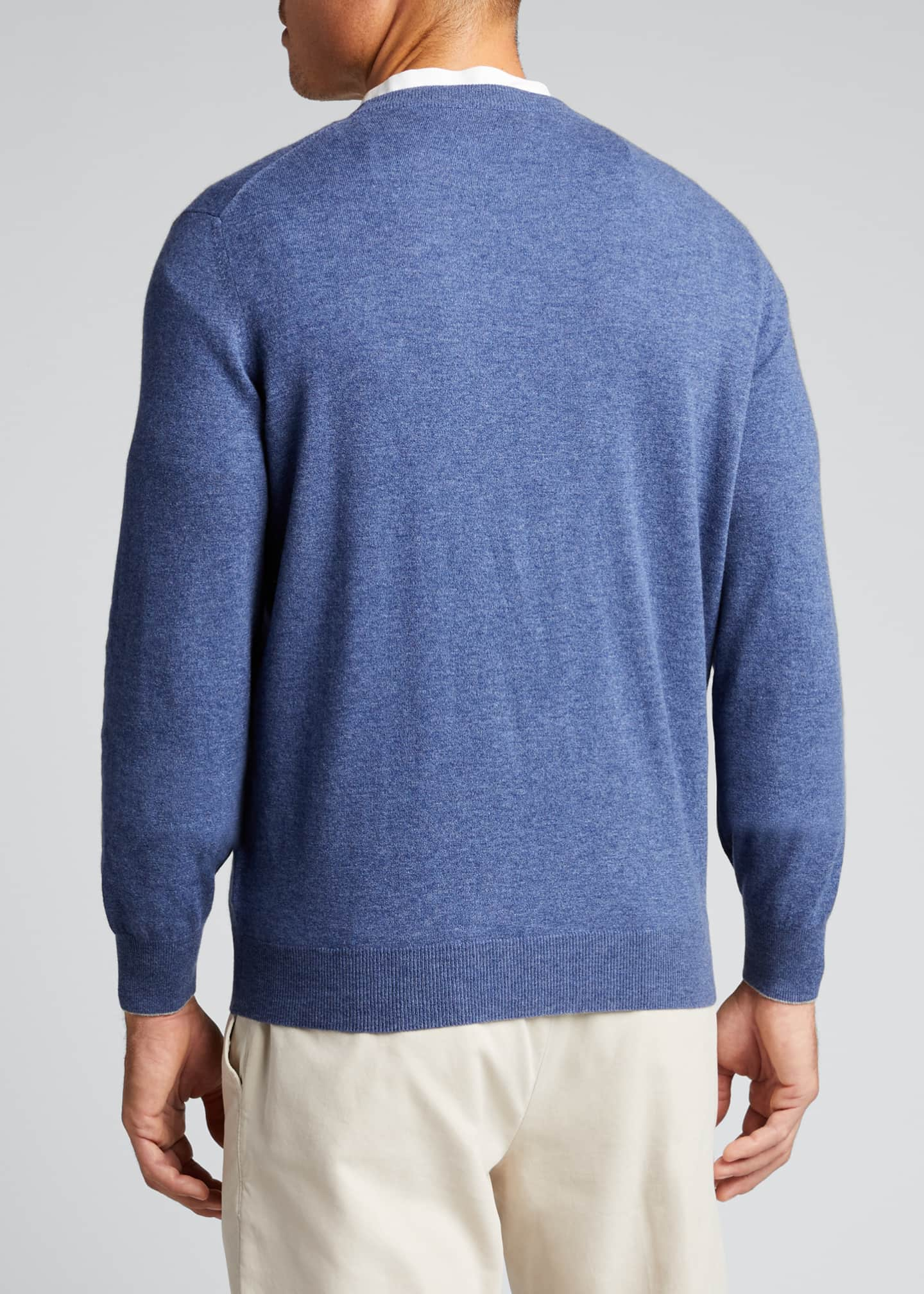 Image 2 of 5: Men's 2-Ply Cashmere Crew Sweater