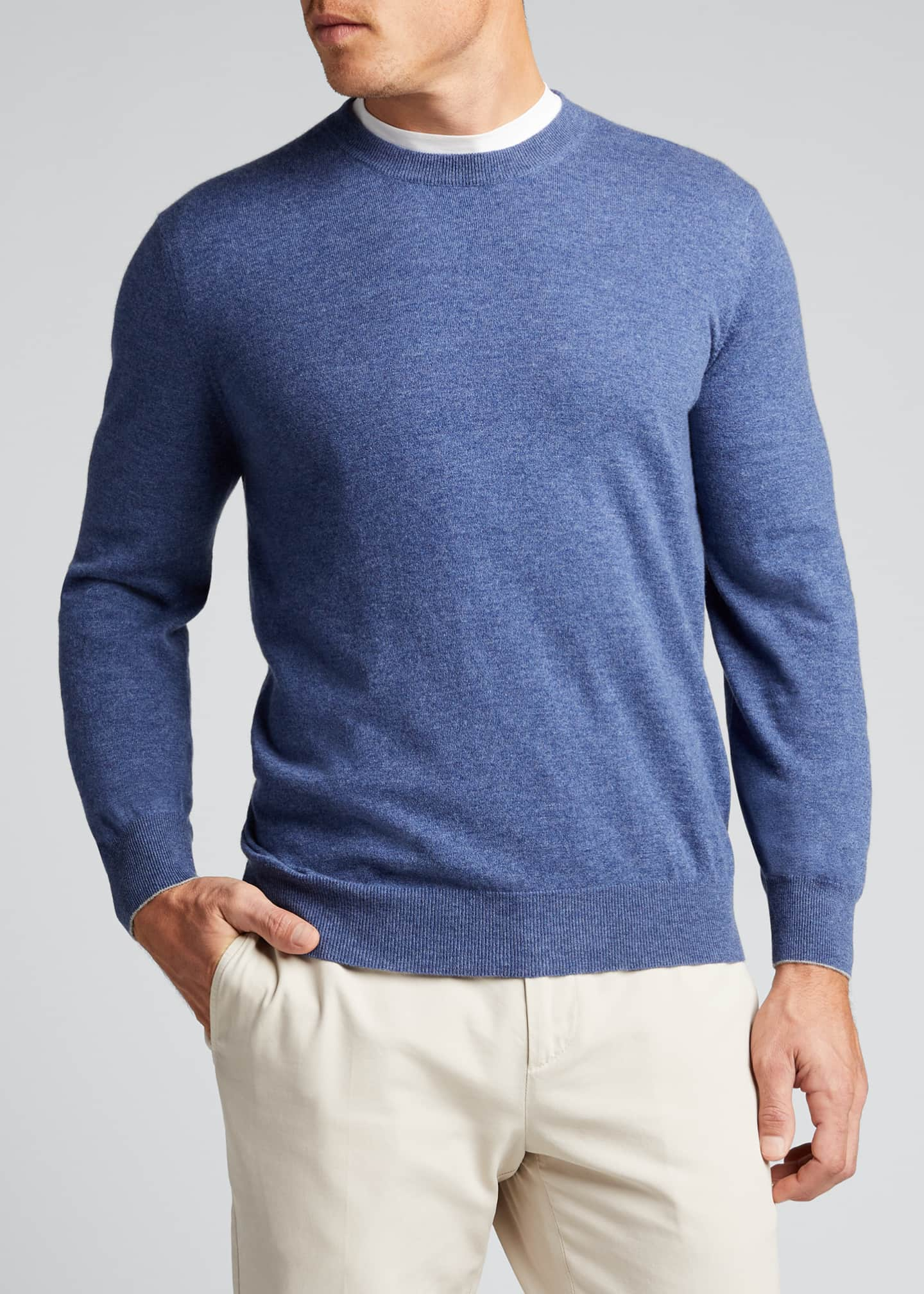 Image 3 of 5: Men's 2-Ply Cashmere Crew Sweater