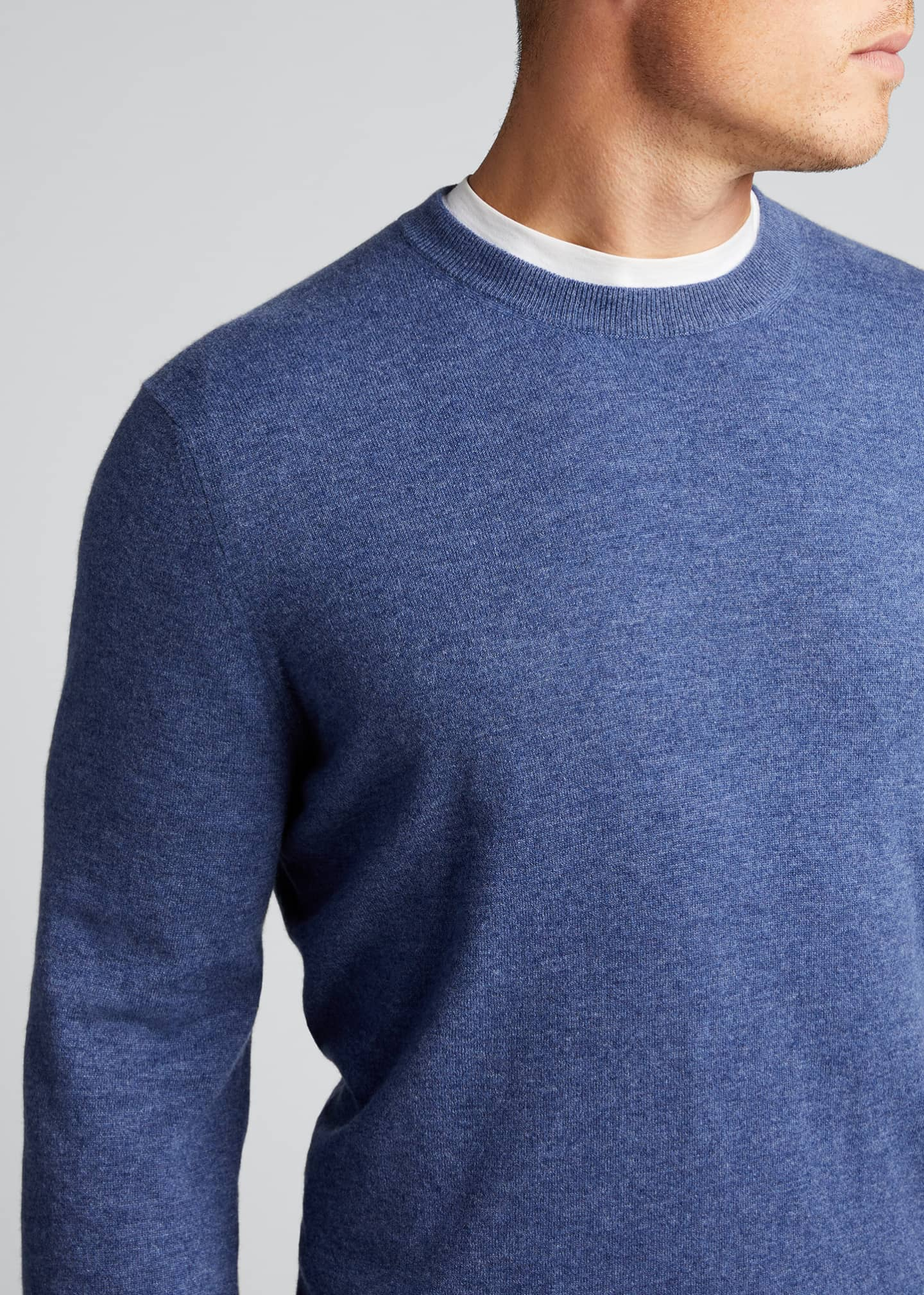 Image 4 of 5: Men's 2-Ply Cashmere Crew Sweater