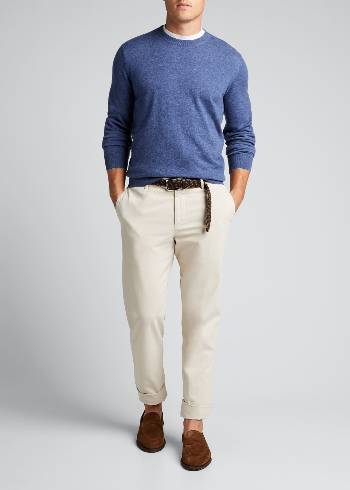 Image 1 of 5: Men's 2-Ply Cashmere Crew Sweater