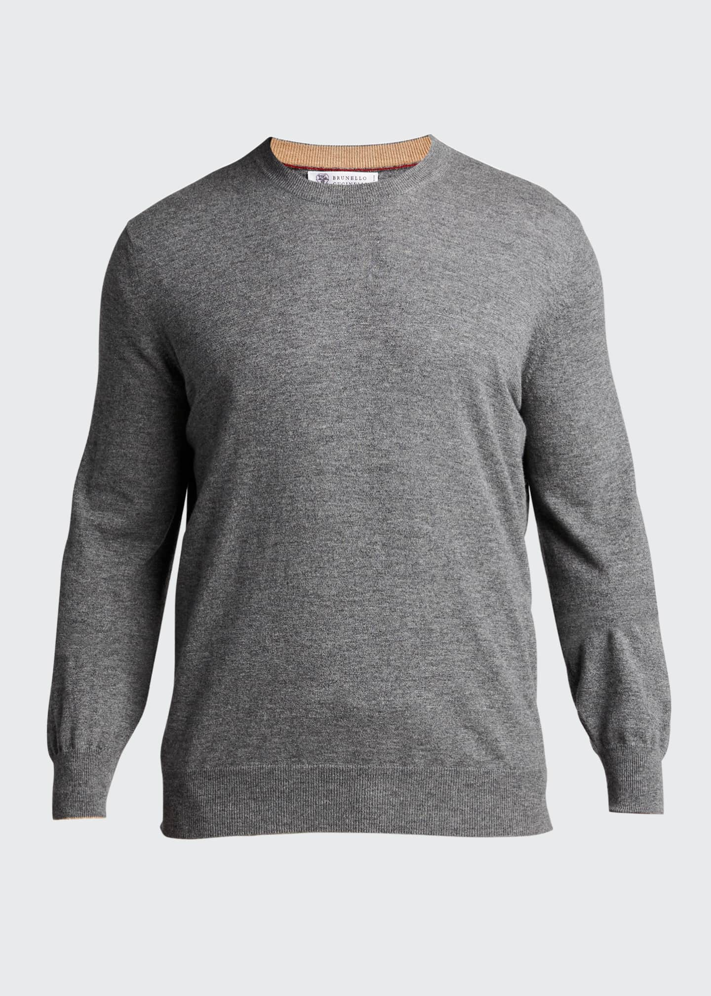 Image 5 of 5: Men's 2-Ply Cashmere Crew Sweater