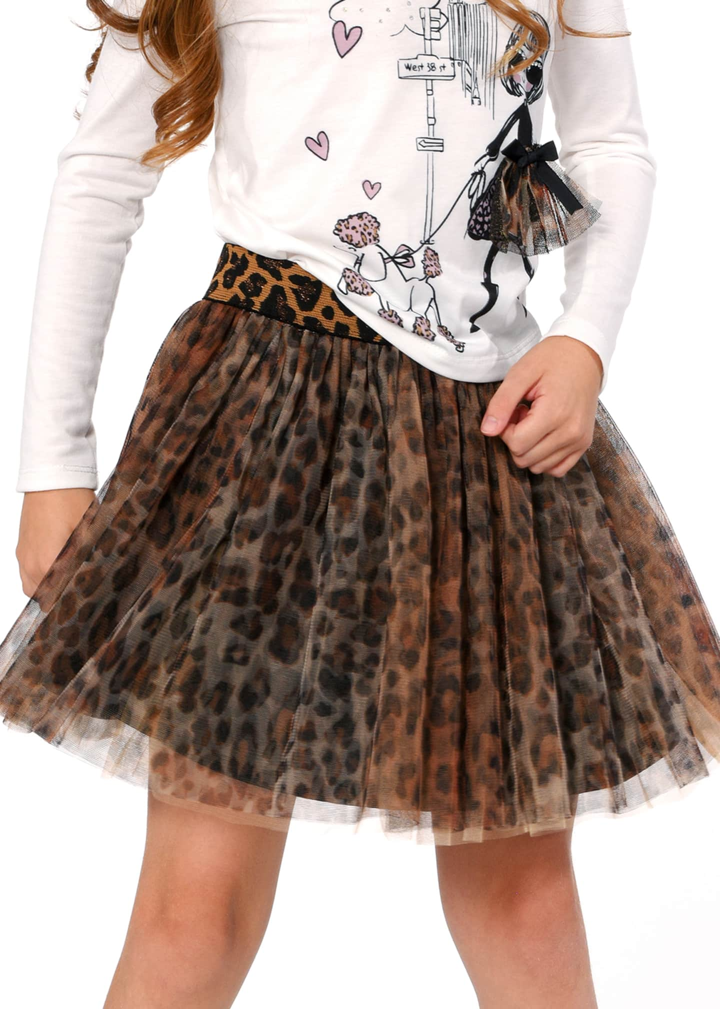 Image 2 of 3: Animal-Print Tutu Skirt, Size 7-14