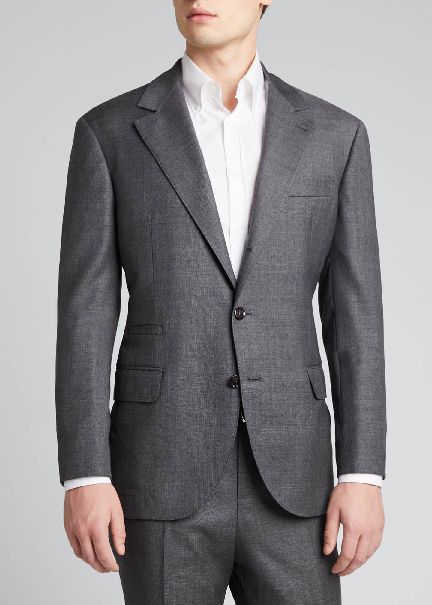 Image 3 of 5: Men's 110s Wool Two-Piece Suit
