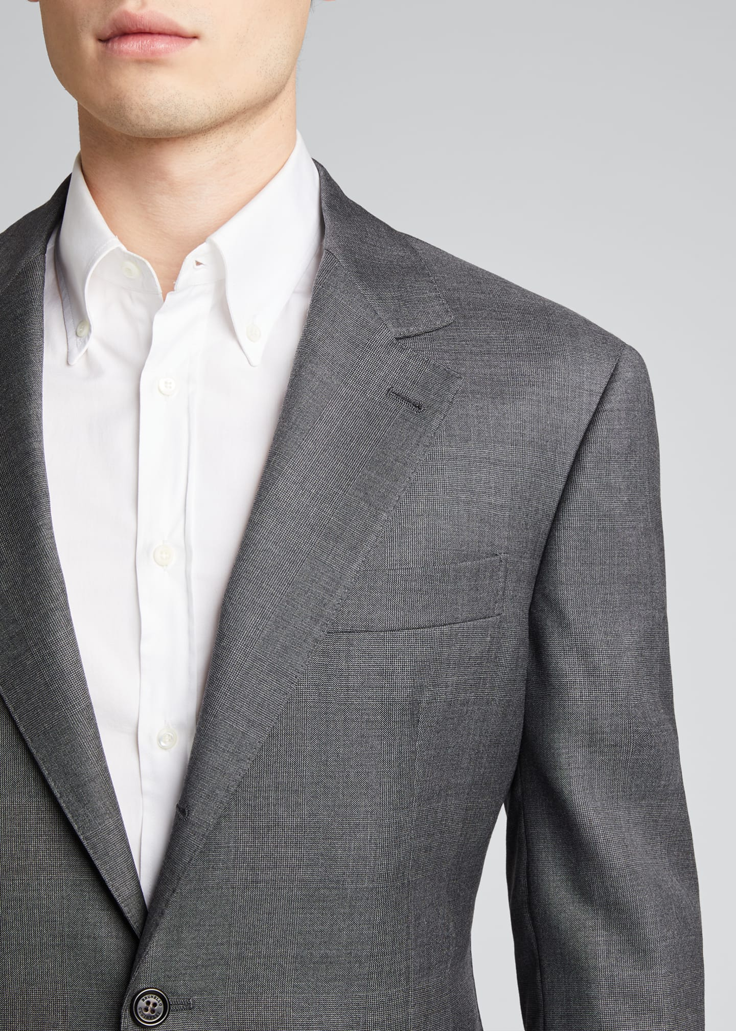 Image 4 of 5: Men's 110s Wool Two-Piece Suit