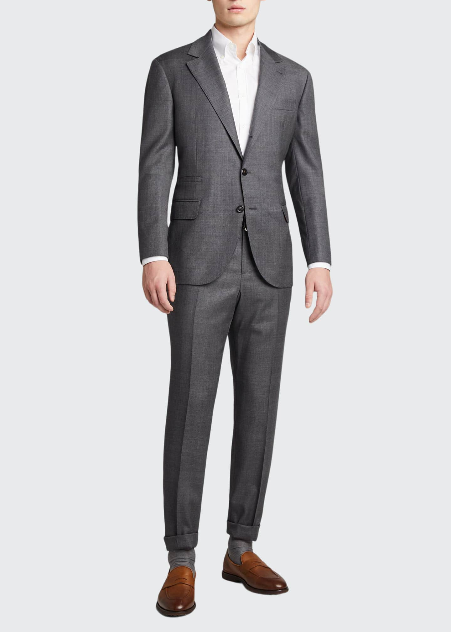 Image 1 of 5: Men's 110s Wool Two-Piece Suit