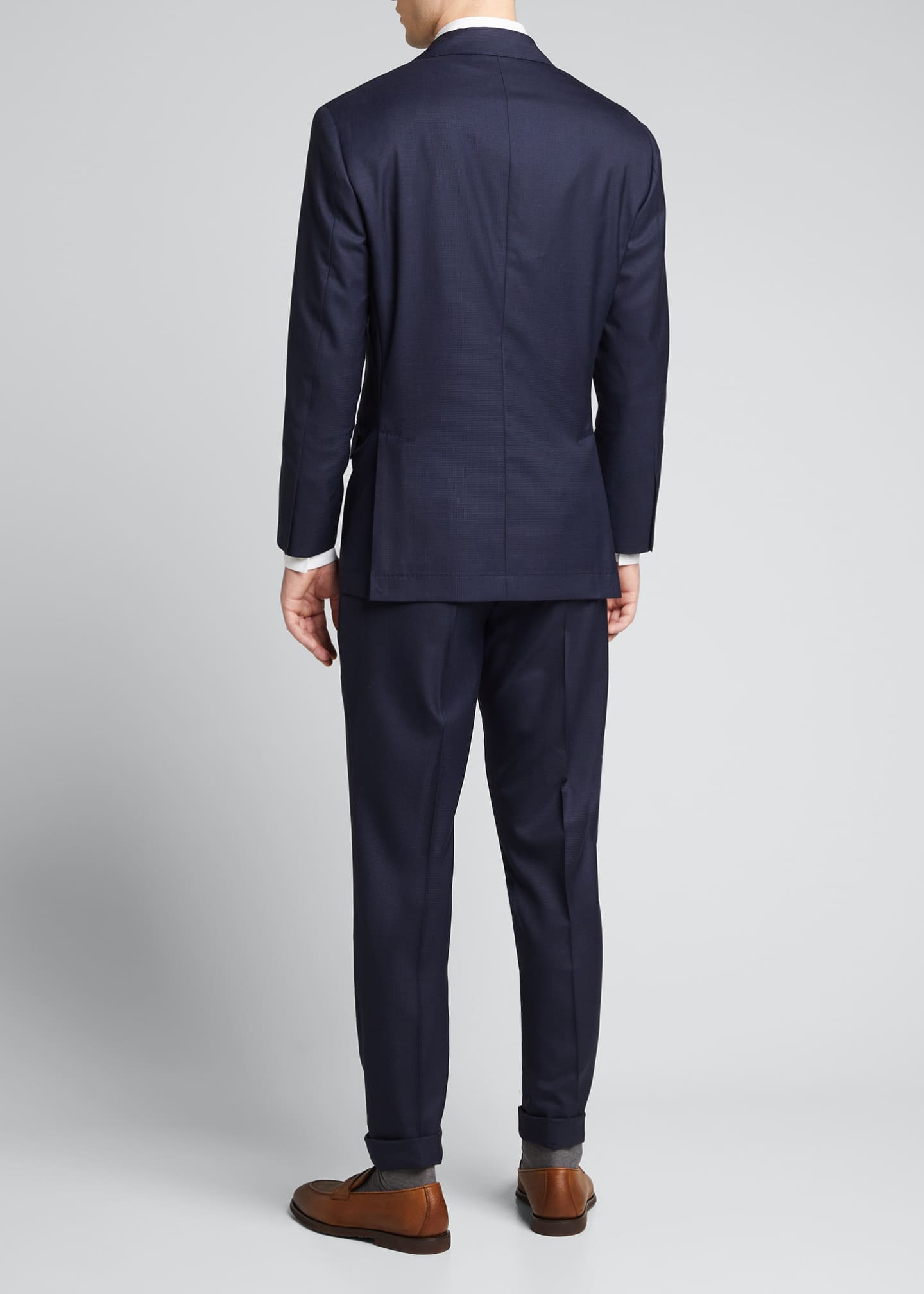 Image 2 of 5: Men's Houndstooth Wool Two-Piece Suit
