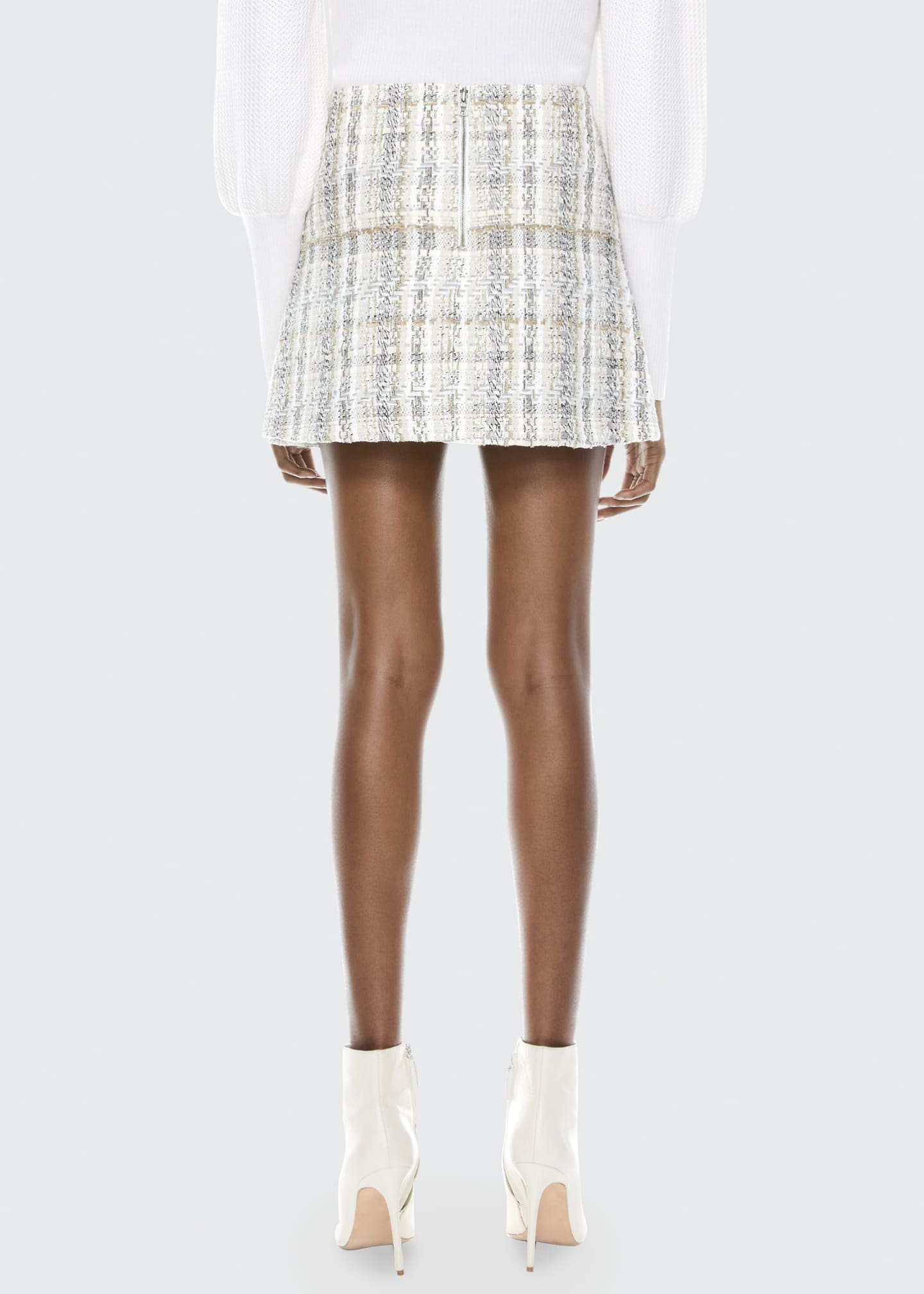 Image 2 of 3: Riley Clean Waist Tweed Mini A-Line Skirt