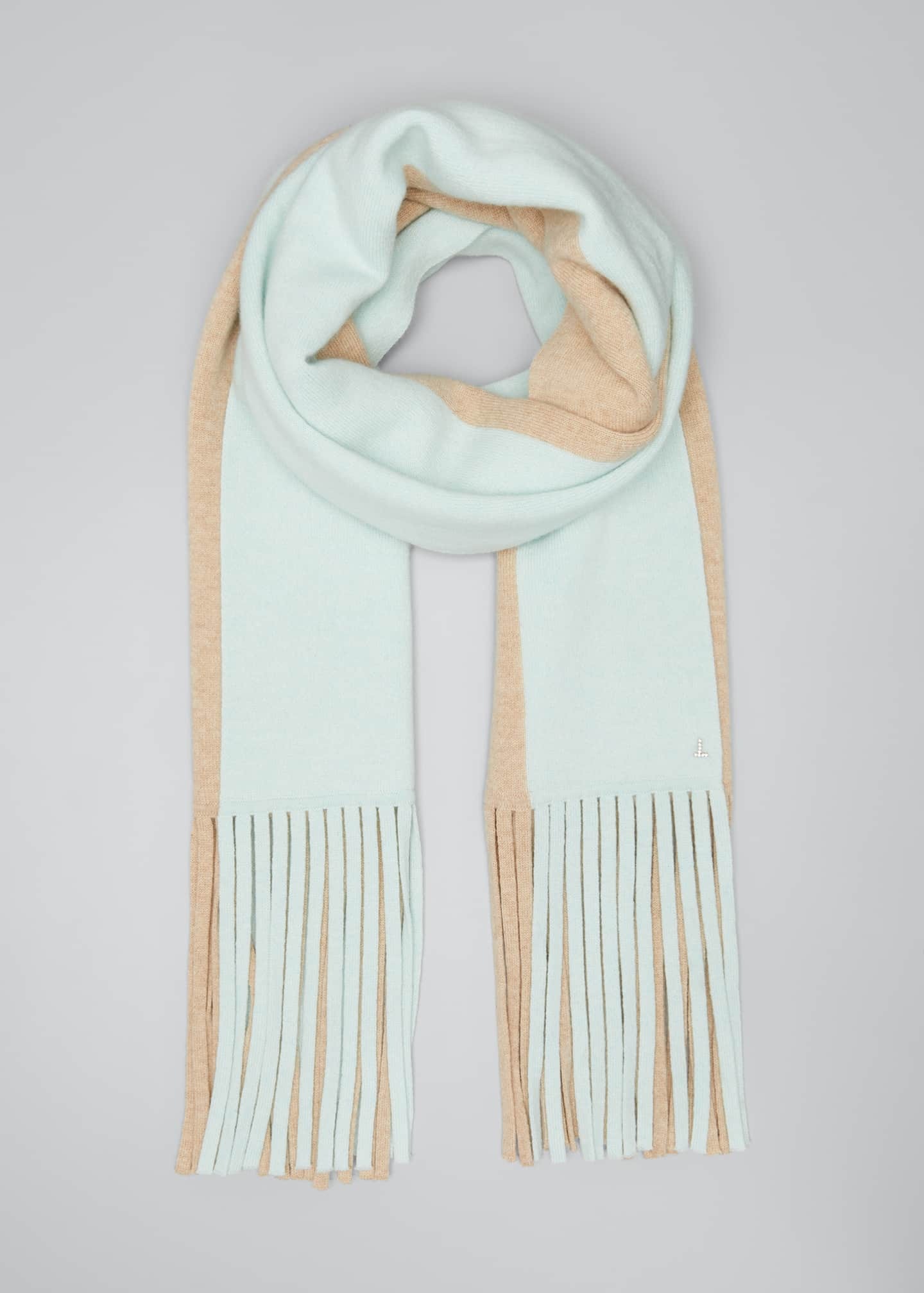 Image 1 of 4: Cashmere Two-Tone Long Scarf