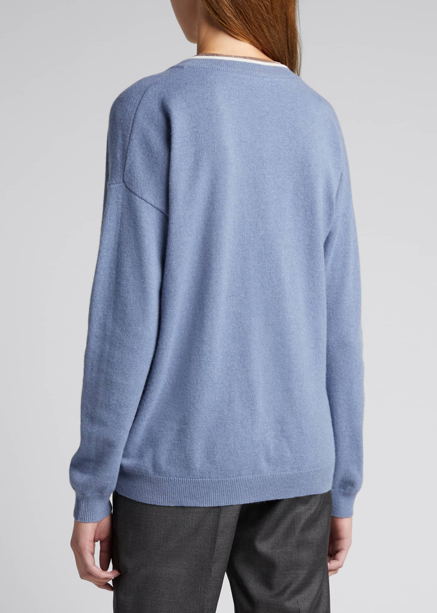 Image 2 of 4: Monili Trim Wool-Blend Sweater