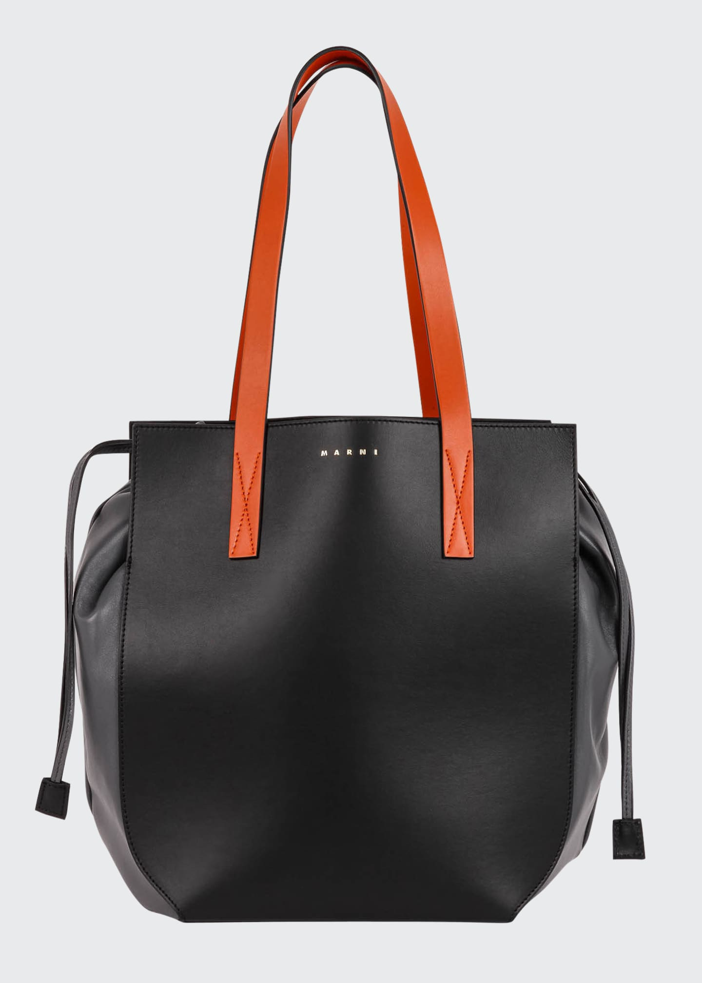 Image 1 of 3: Colorblock Drawstring Shopping Tote Bag