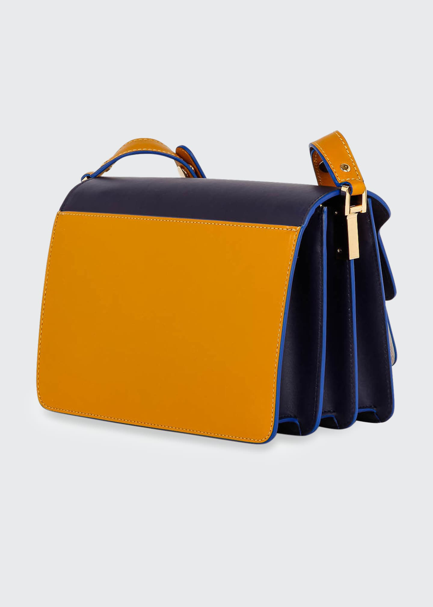 Image 3 of 4: Colorblock Shoulder Satchel Bag