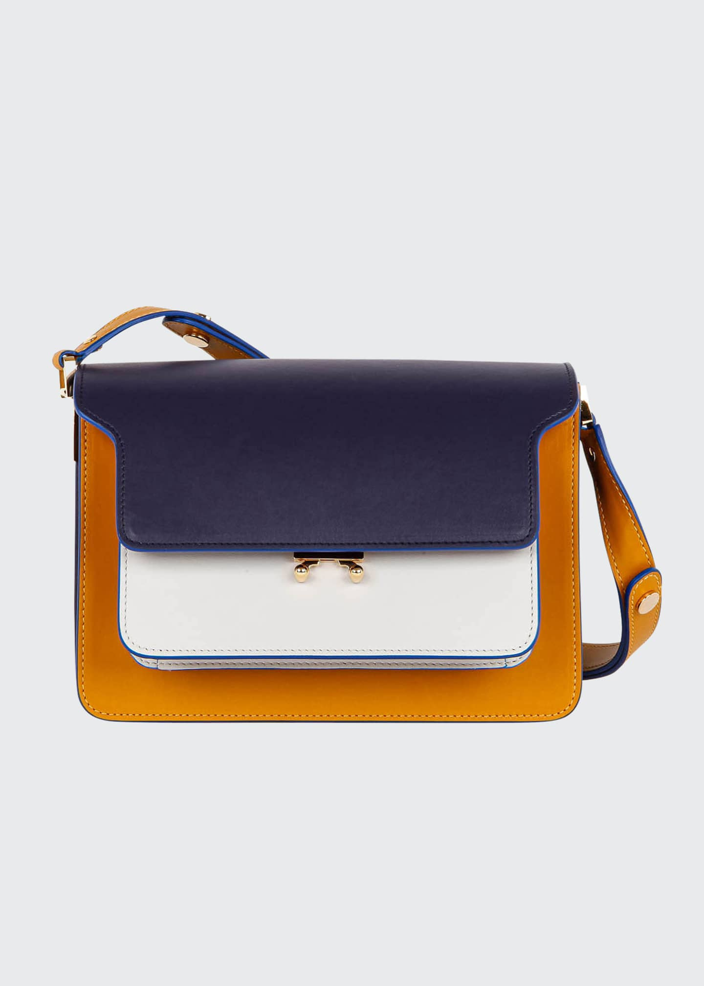 Image 1 of 4: Colorblock Shoulder Satchel Bag