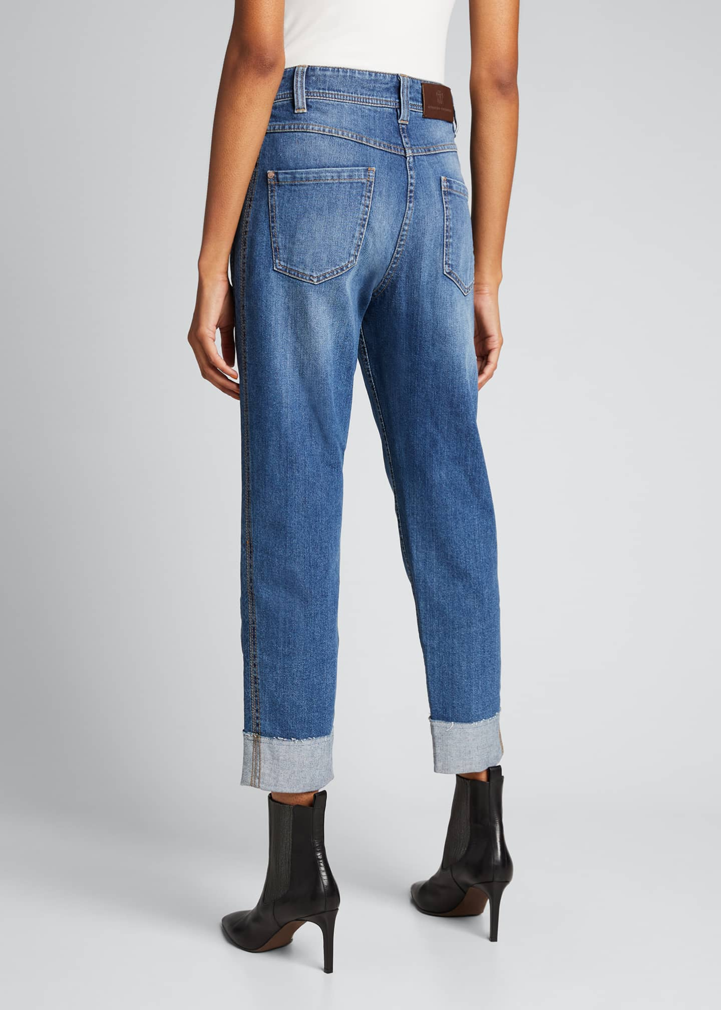 Image 2 of 5: Straight-Leg Denim Jeans in Medium Blue