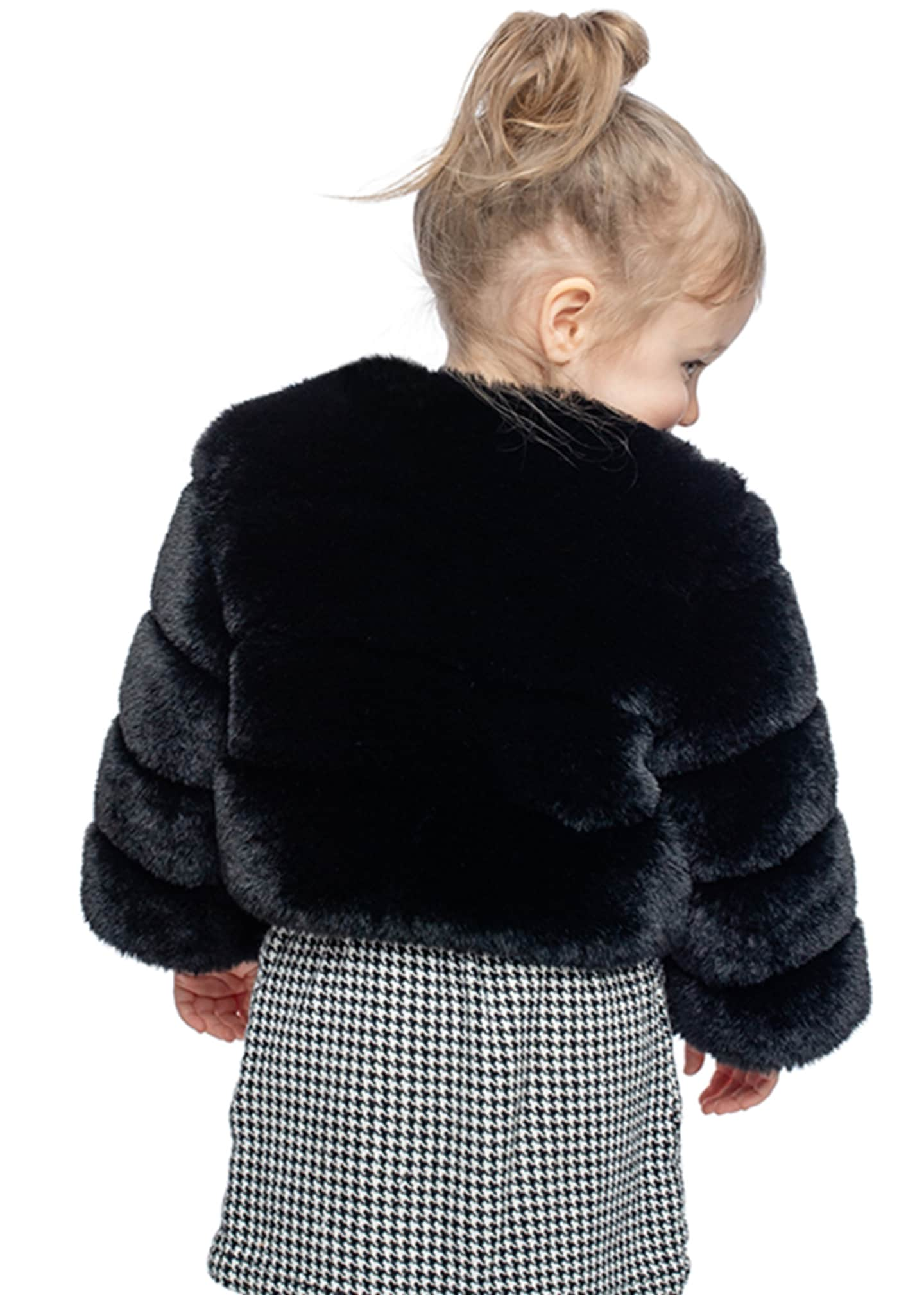 Image 2 of 2: Girl's Diva in Training Faux Fur Coat, Size XXS-L