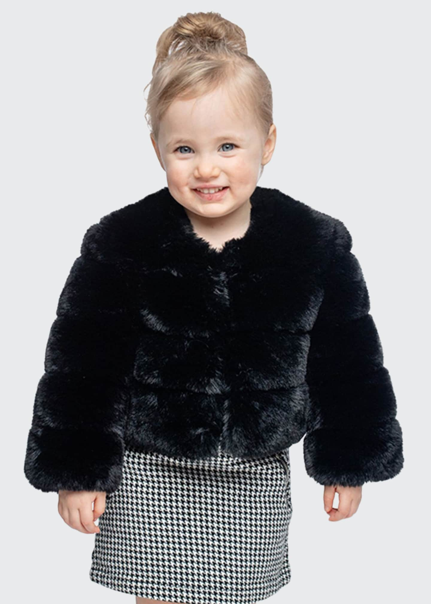Image 1 of 2: Girl's Diva in Training Faux Fur Coat, Size XXS-L
