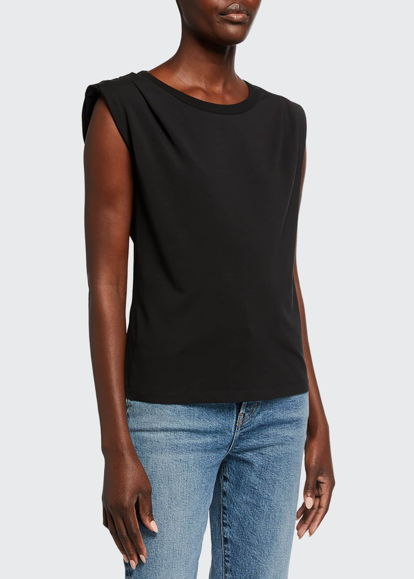 Image 1 of 2: Zaira Stretch Cotton Tee