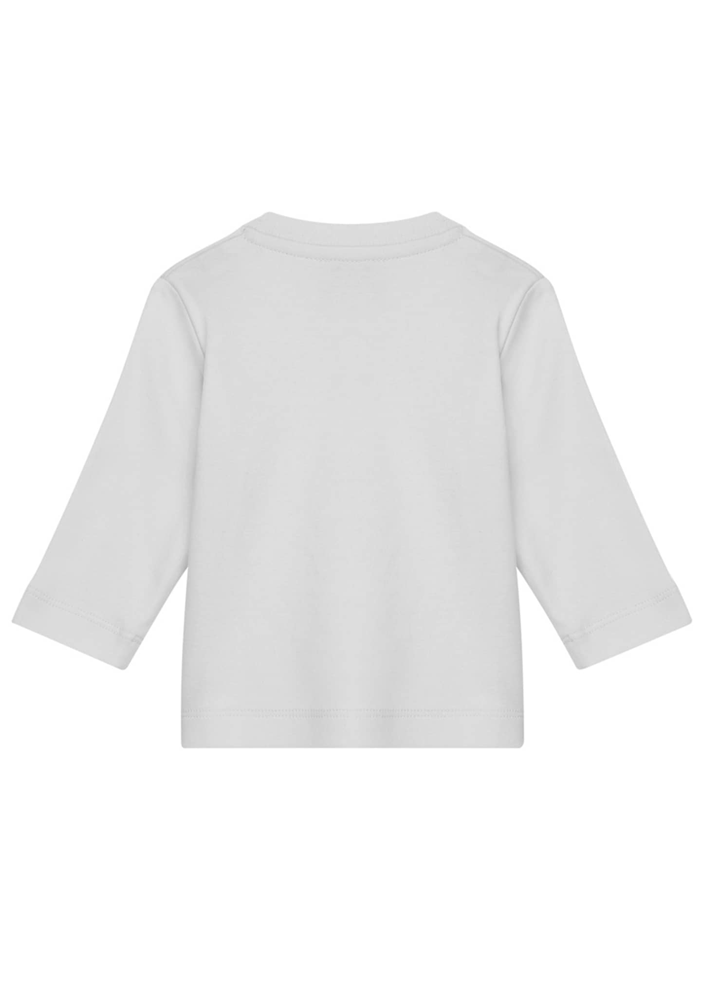 Image 2 of 3: Girl's Fuzzy Bell Logo T-Shirt, Size 12M-3